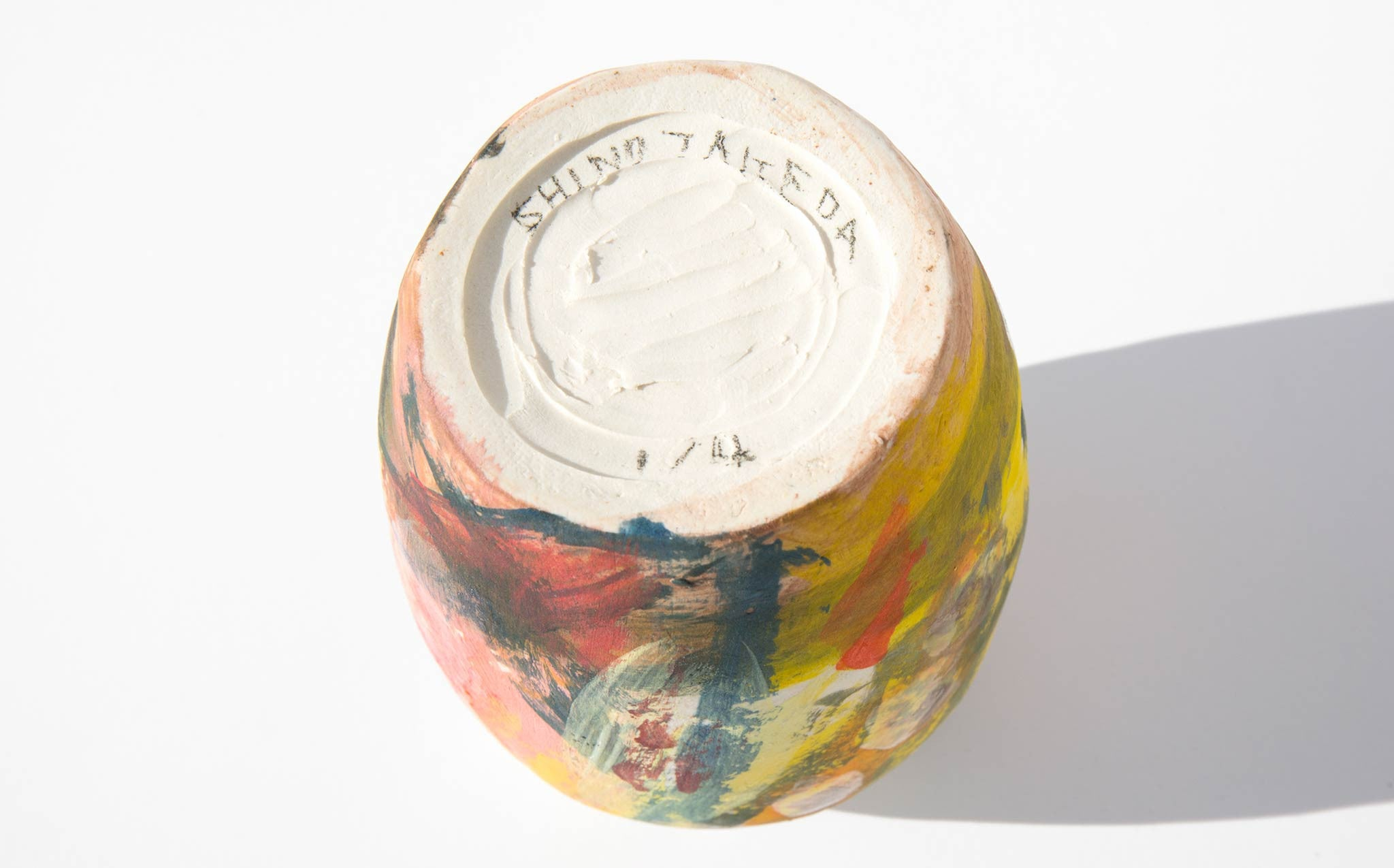 Shino Takeda Painted Ceramic Vase