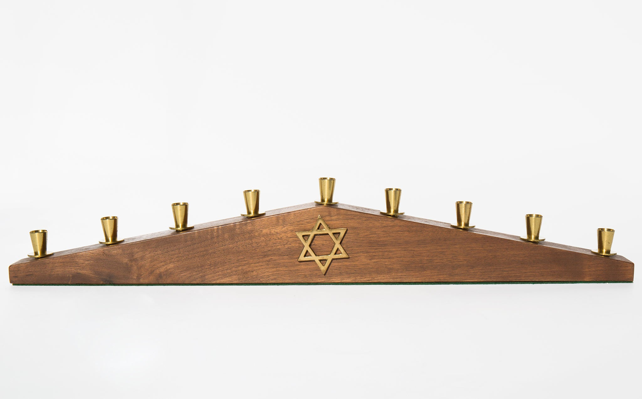 1950's Wood and Brass Menorah