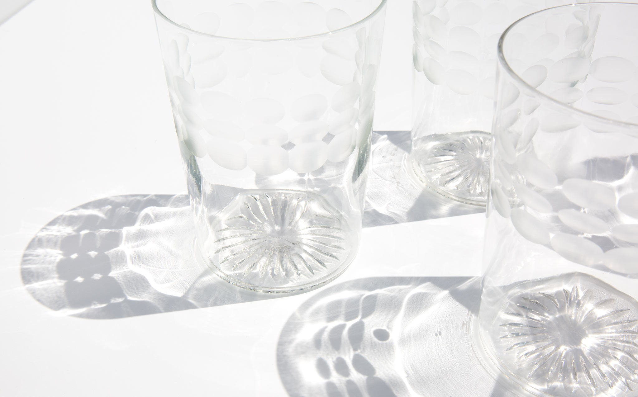 Vintage Etched Juice Glasses