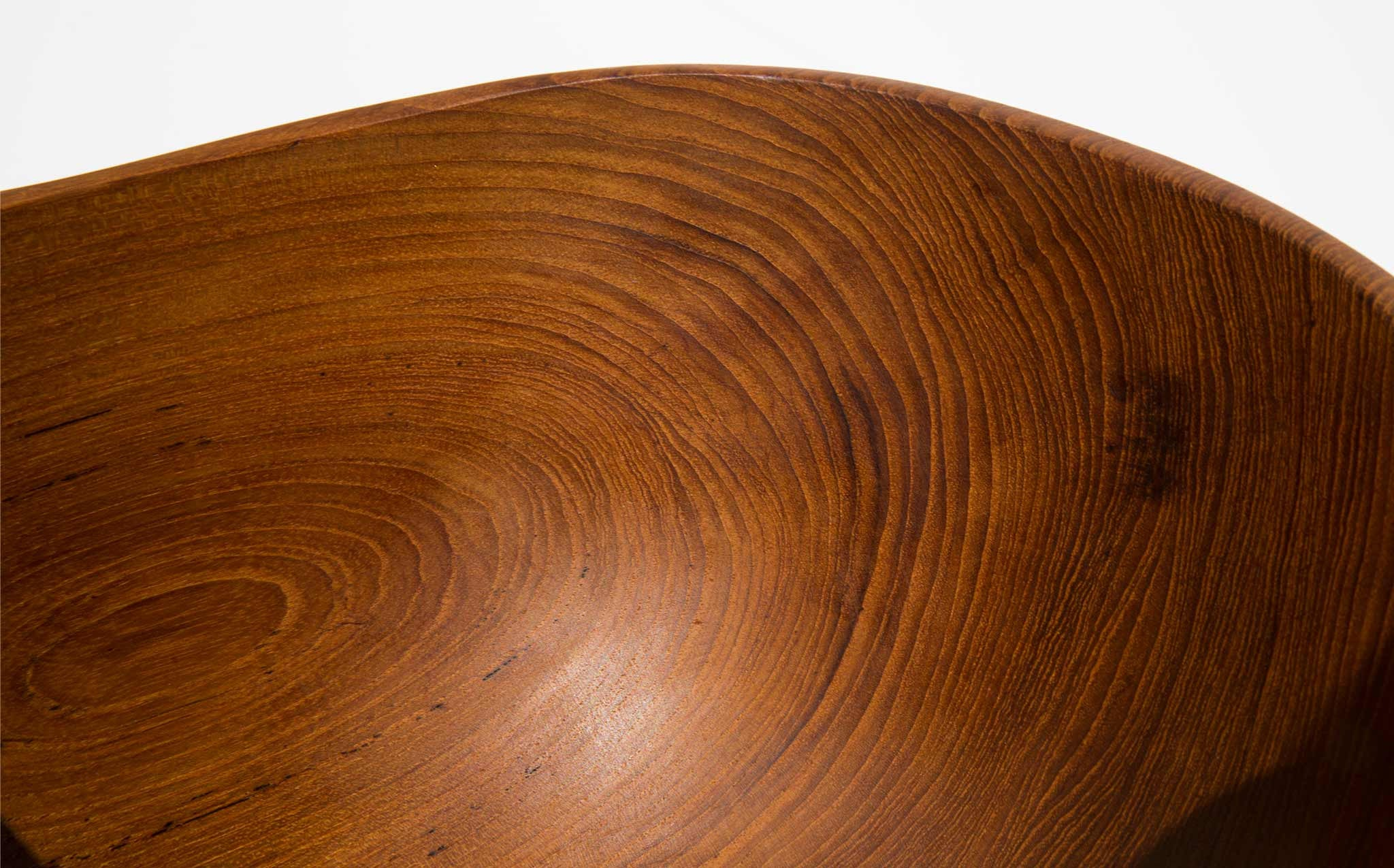 solid teak bowl in the style of Finn Juhl