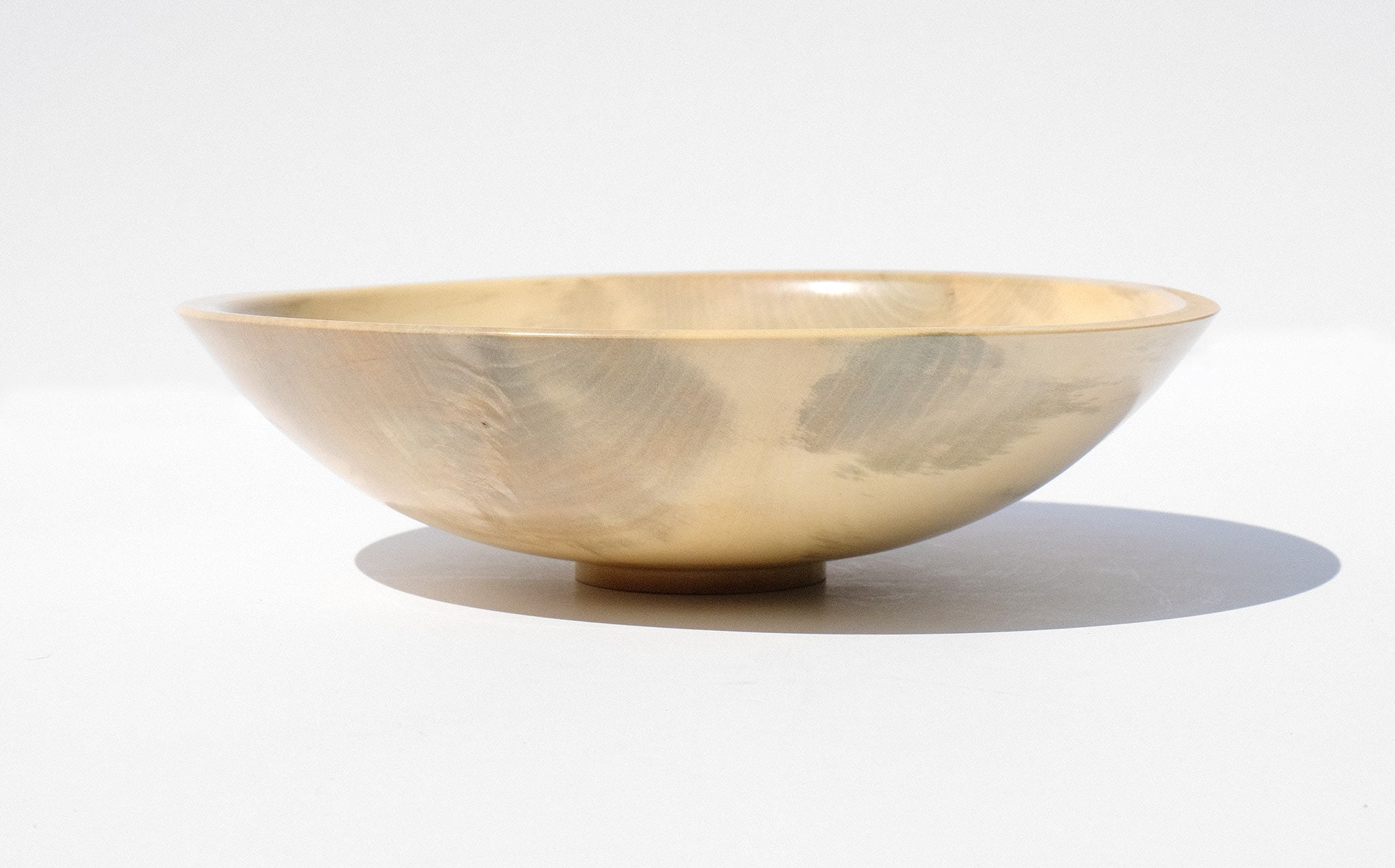 Bruce Perlmutter Hand Lathed Holly Bowl