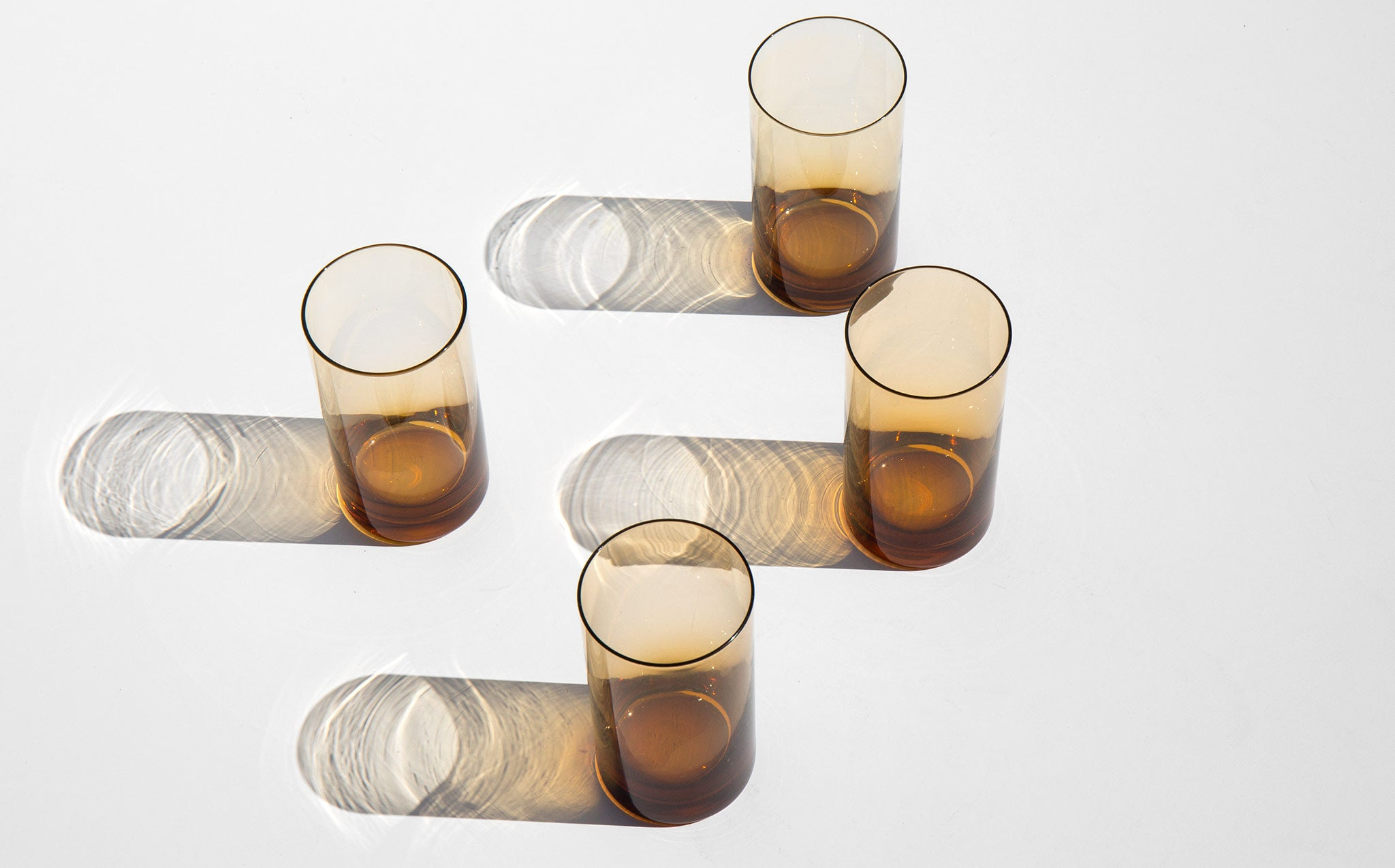 Translucent Amber Glasses