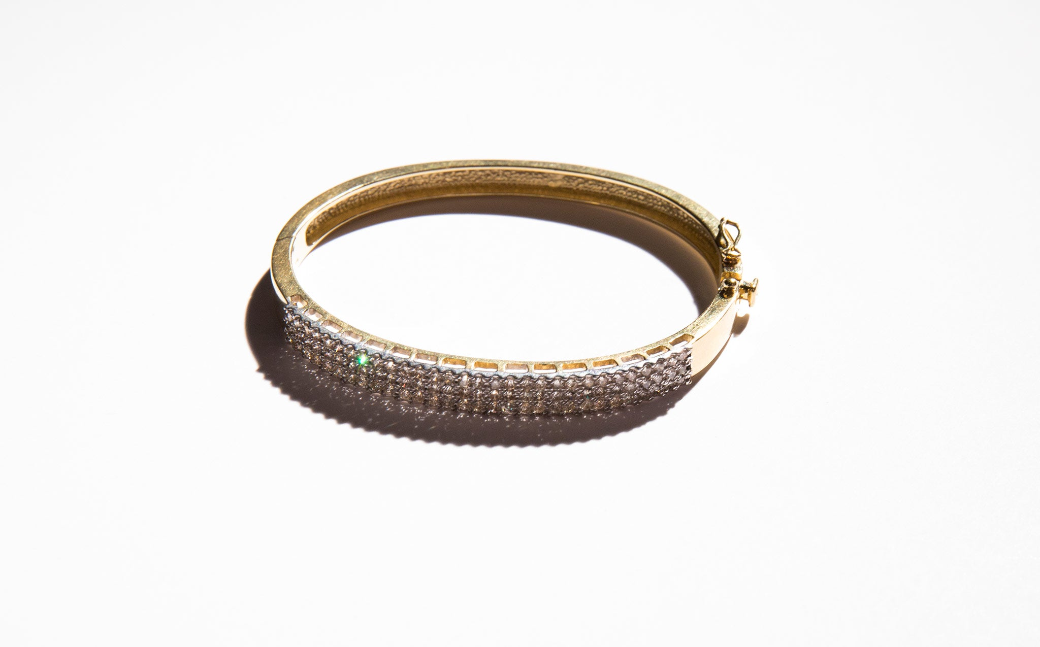 Pave Diamond and Gold Midas Bracelet