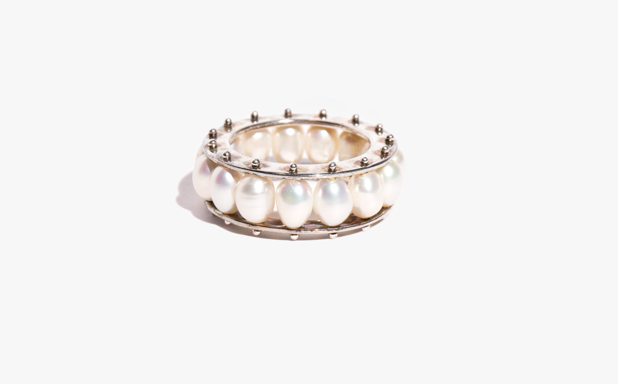 Freshwater Pearl and Sterling Band