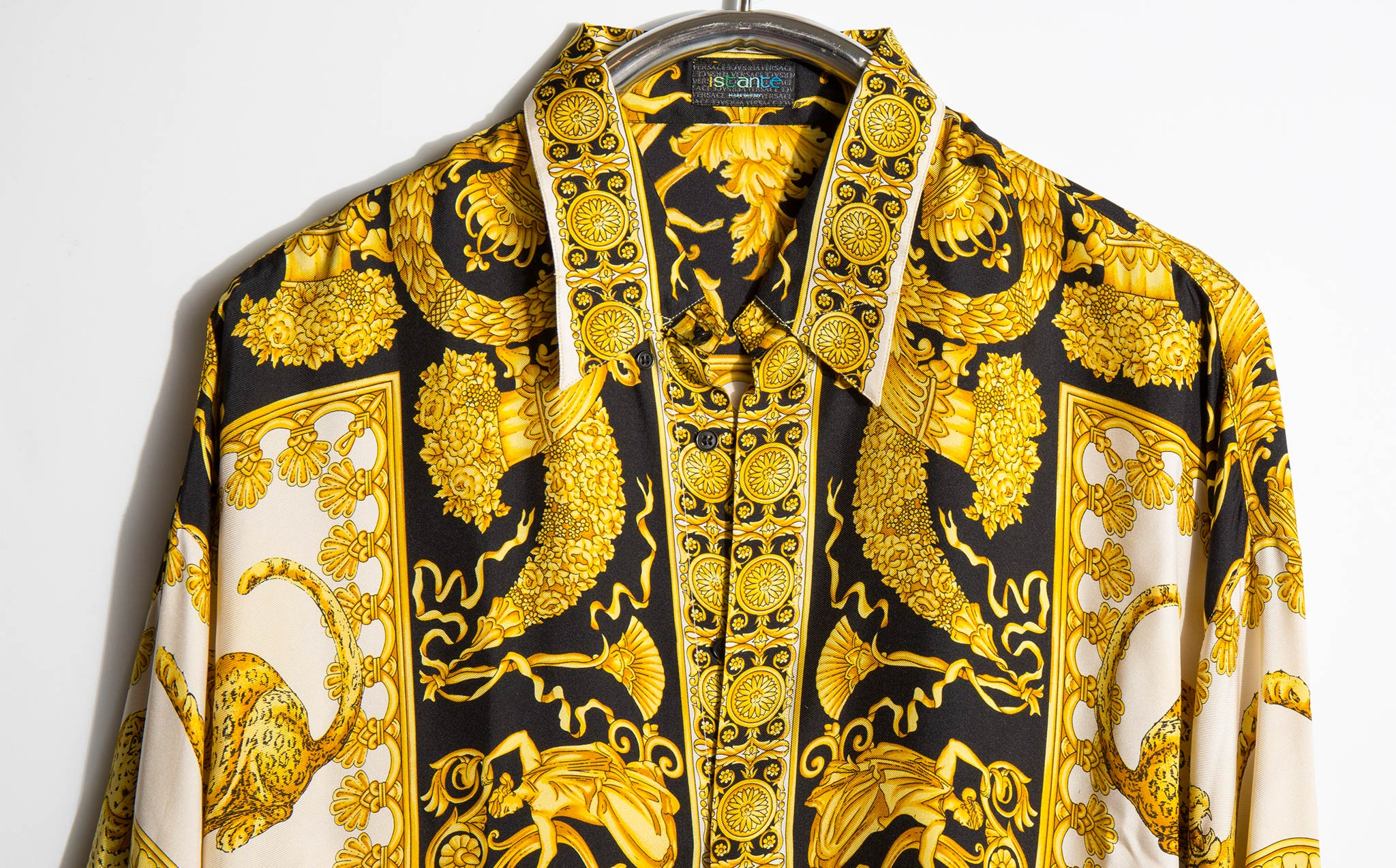 Gianni Versace Iconic 1990's Silk Baroque Print Shirt