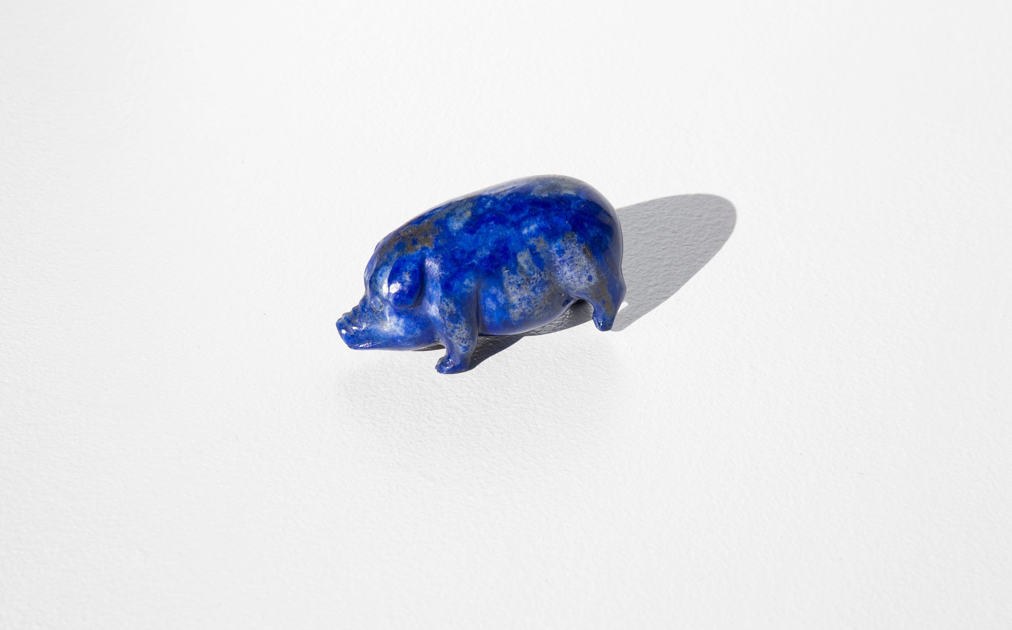 Three Legged Lapis Luck Pig