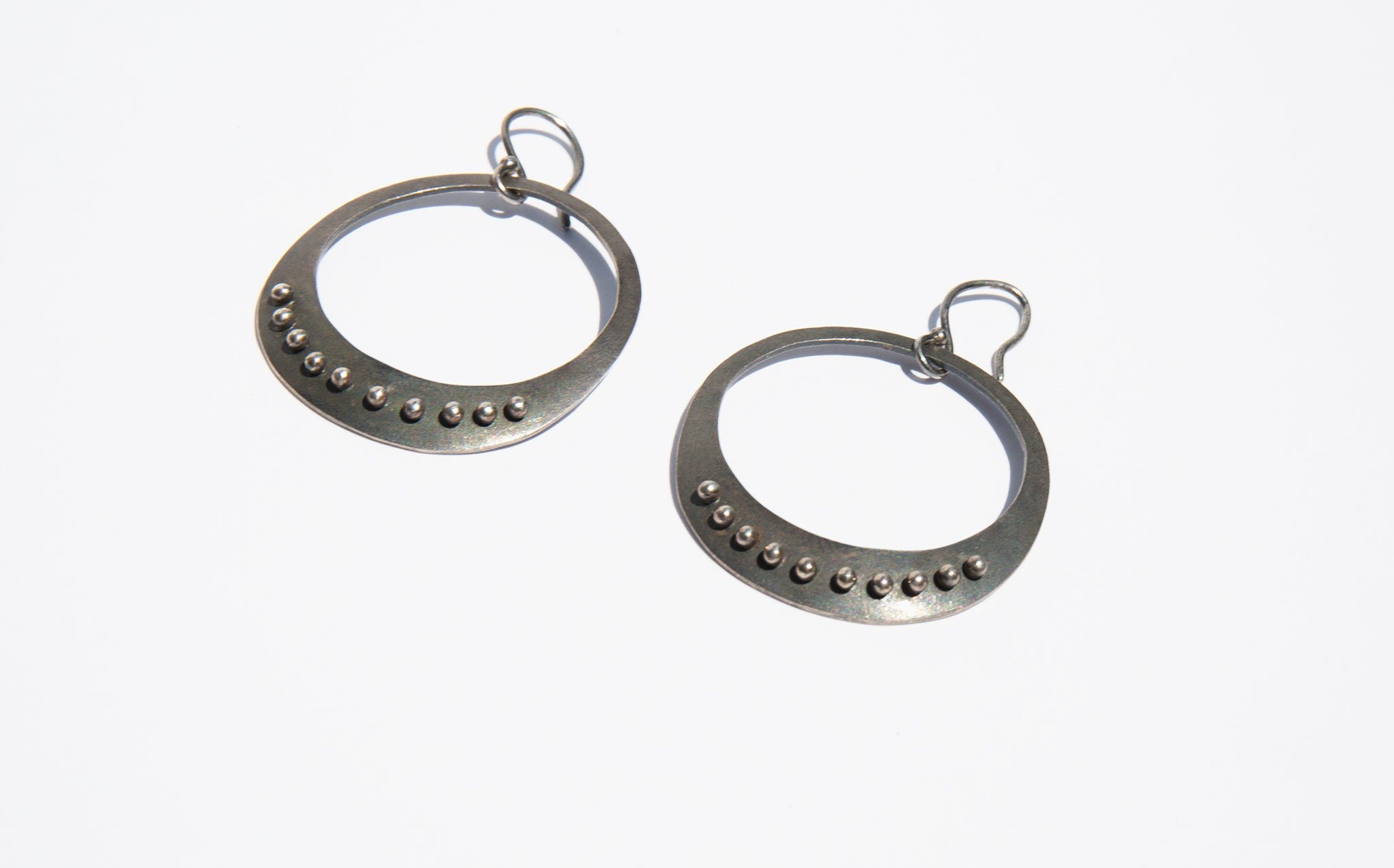 Sterling Desert Hoop Earrings