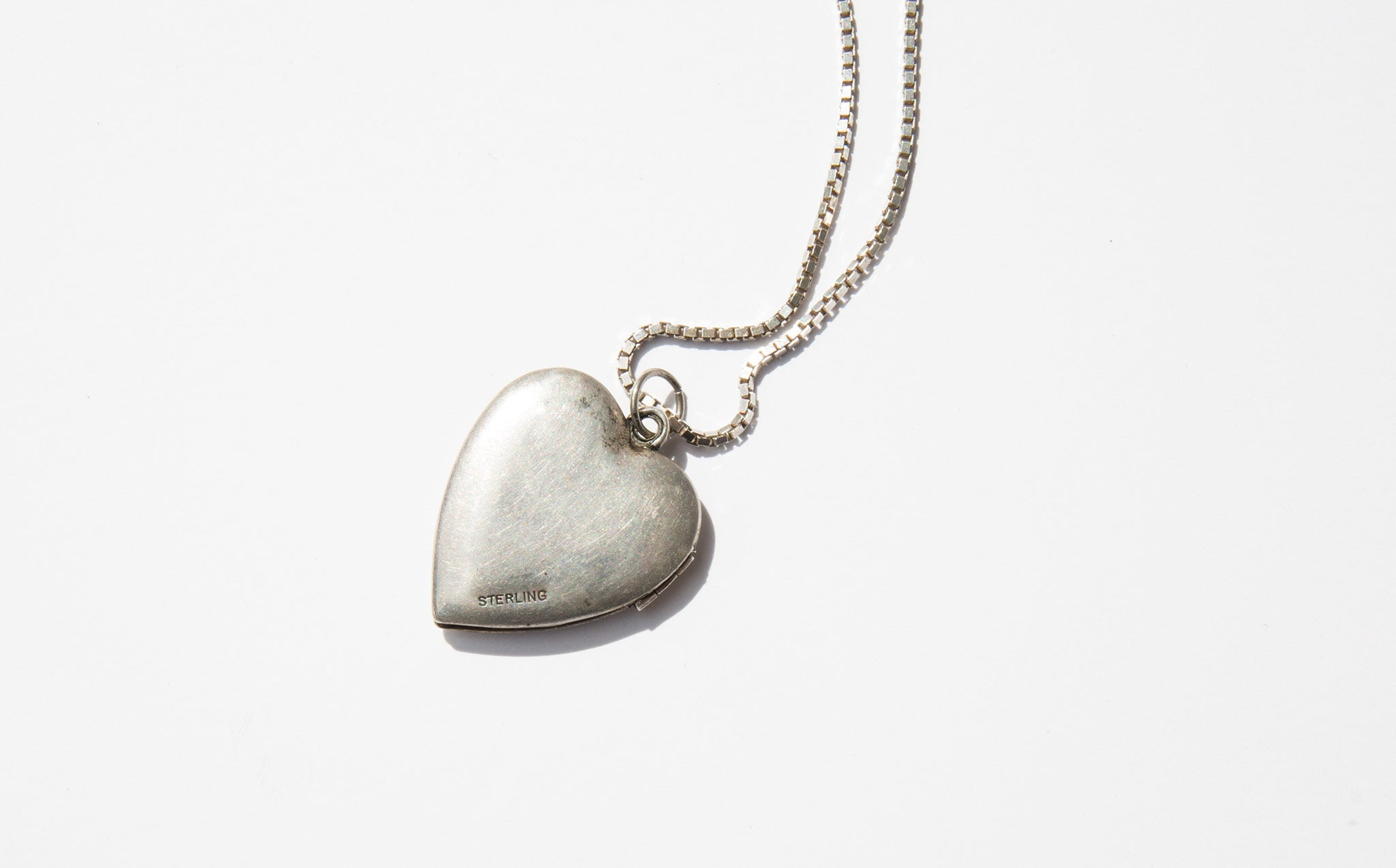 Vintage Sterling Heart Charm Necklace