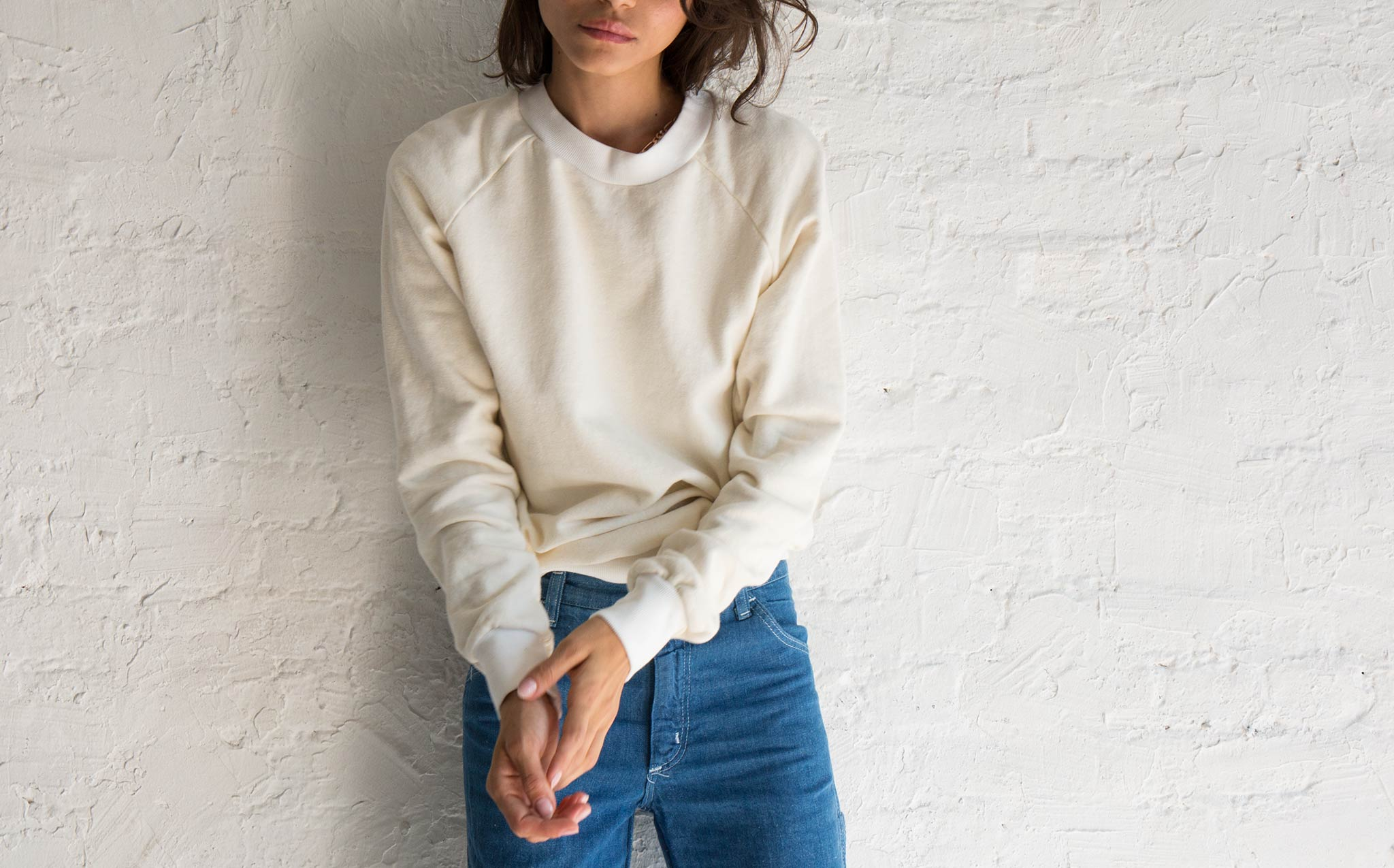 Jungmaven Optic White Alpine Raglan Sweatshirt