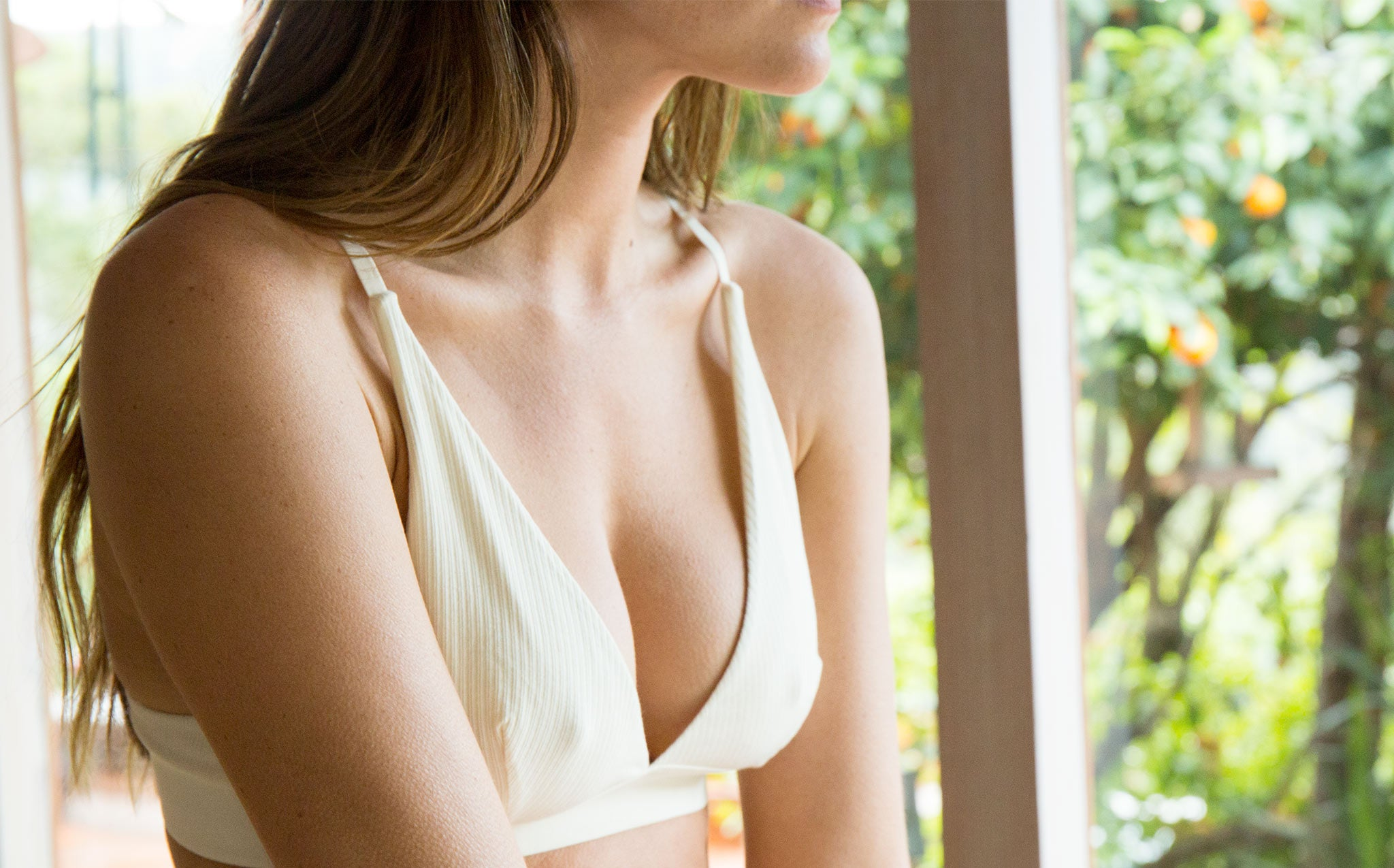 Baserange Ribbed Triangle Bra