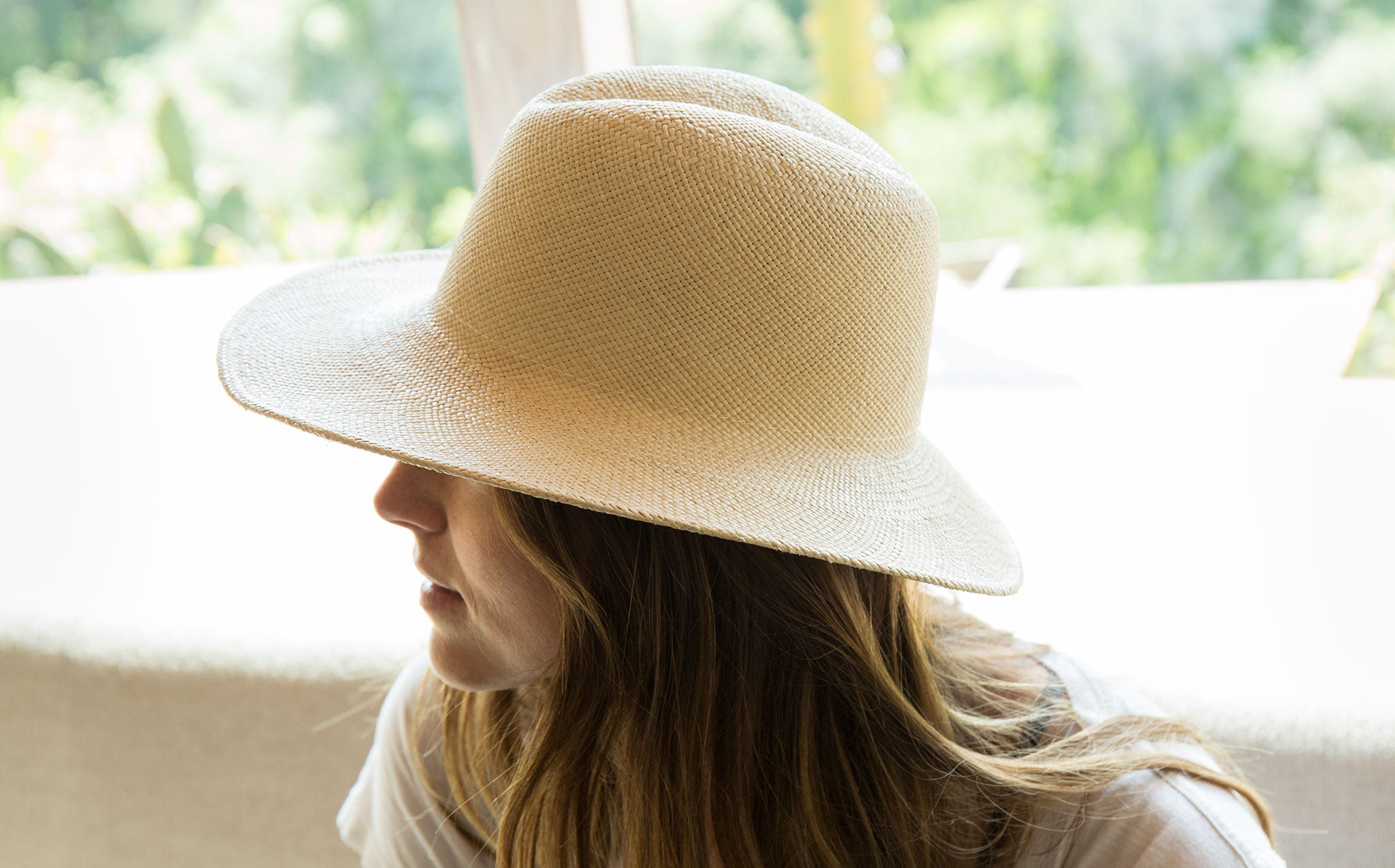 Clyde Panama Straw Dip Hat kindred black