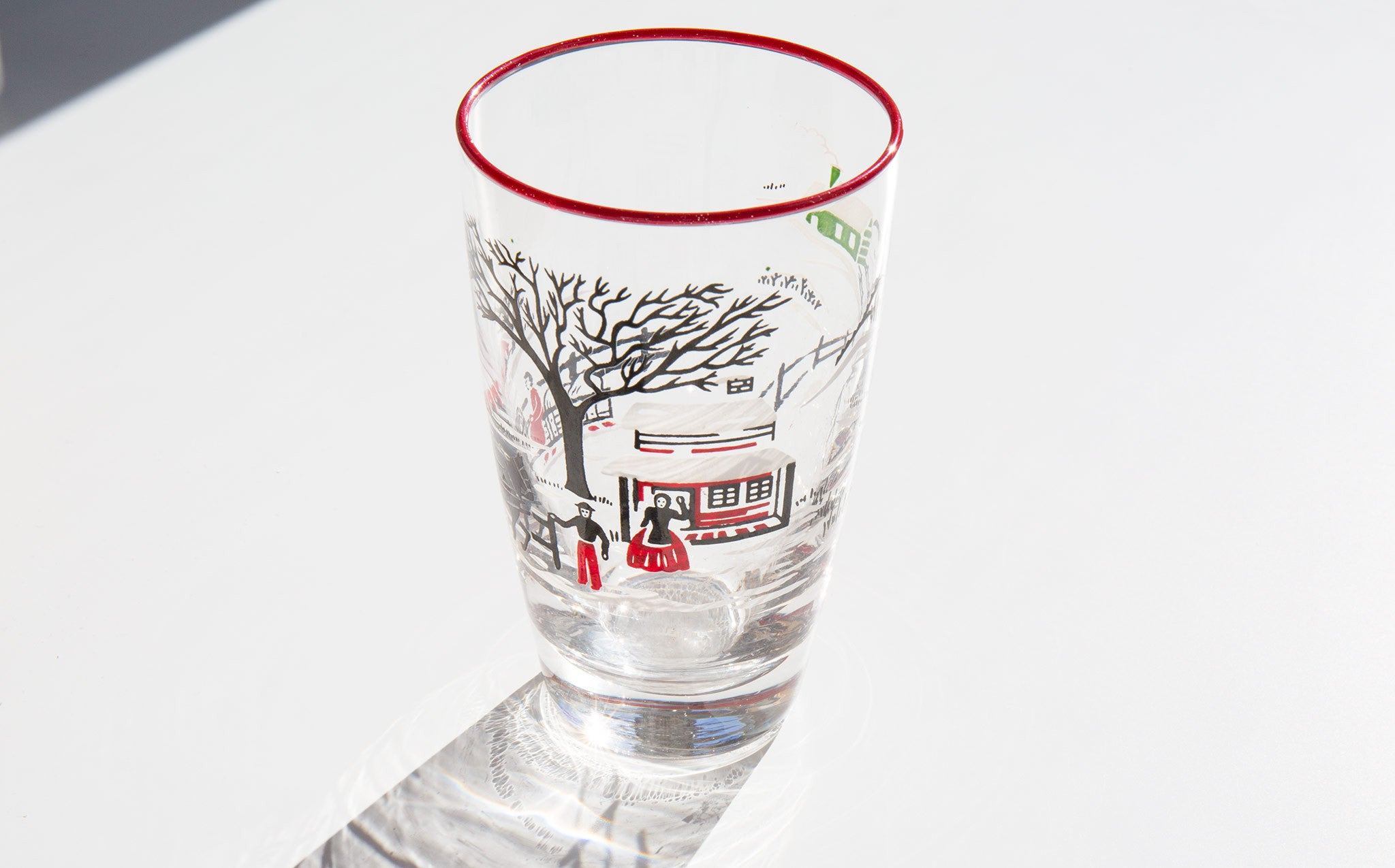Currier and Ives Glasses