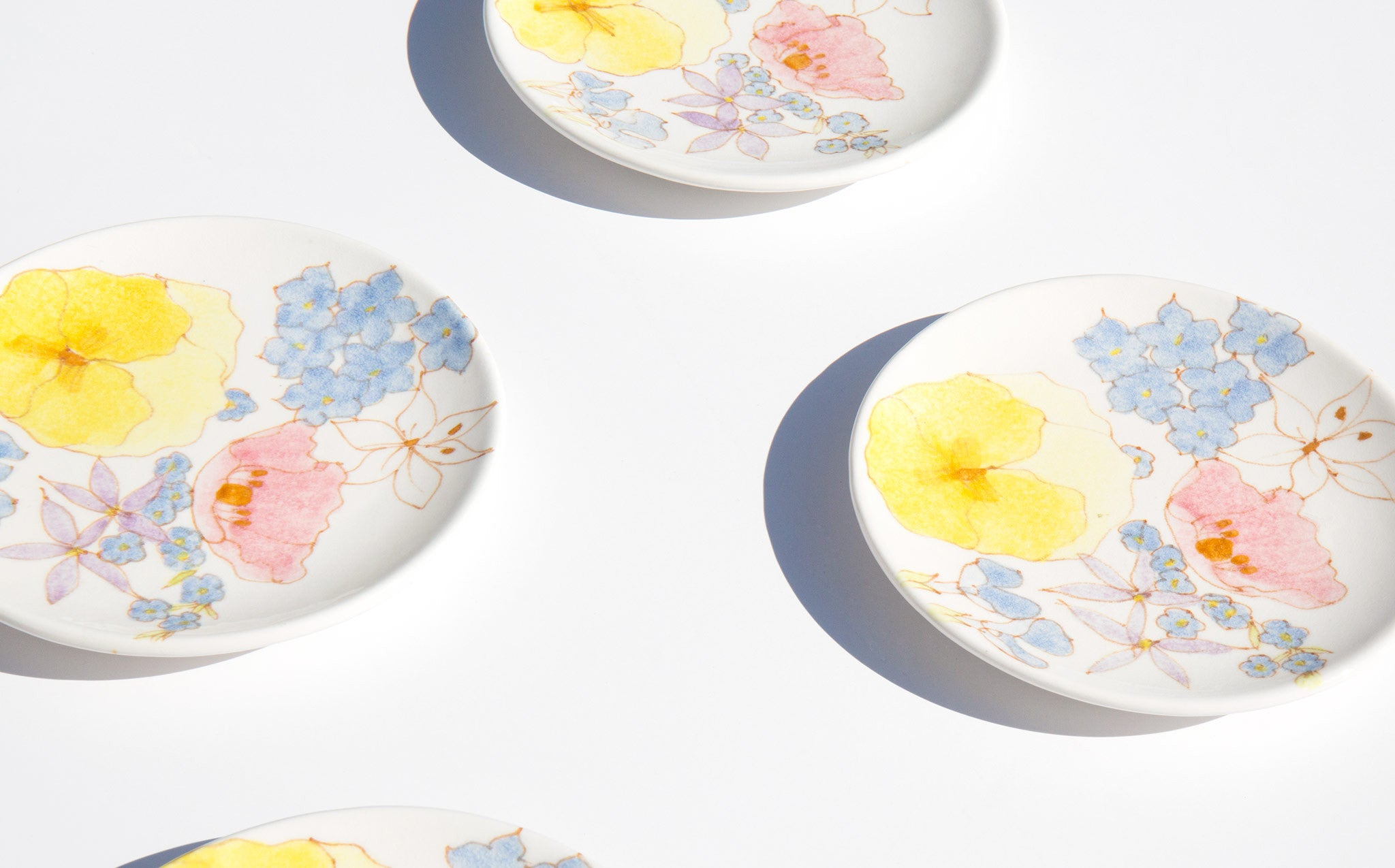 Italian Floral Cake Plates