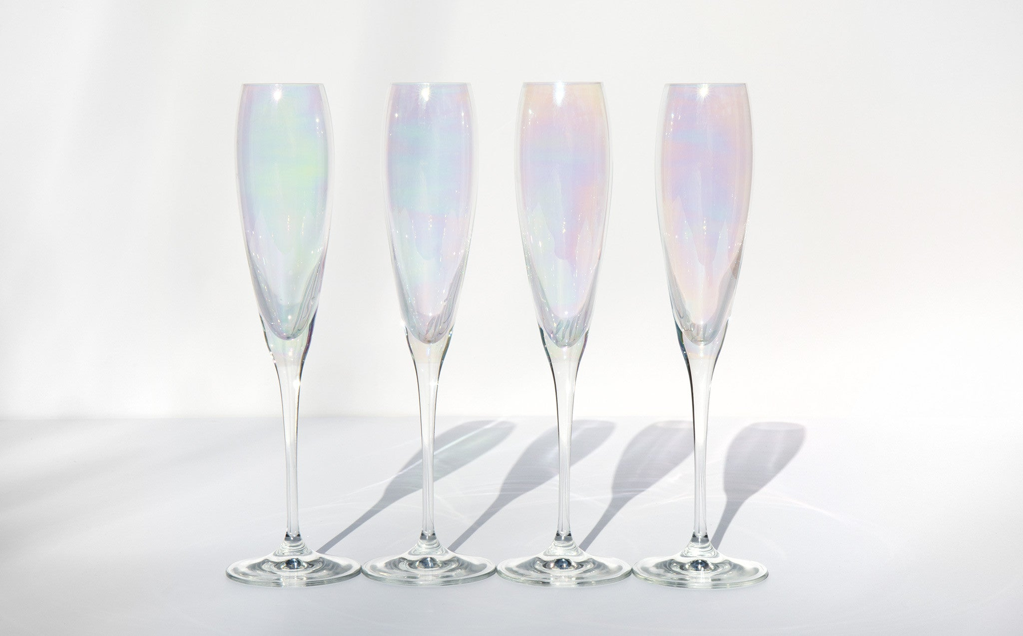 Iridescent Champagne Glasses