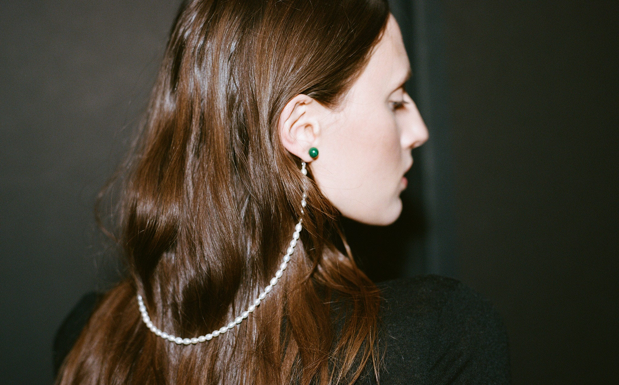 Malachite Cloak Earrings