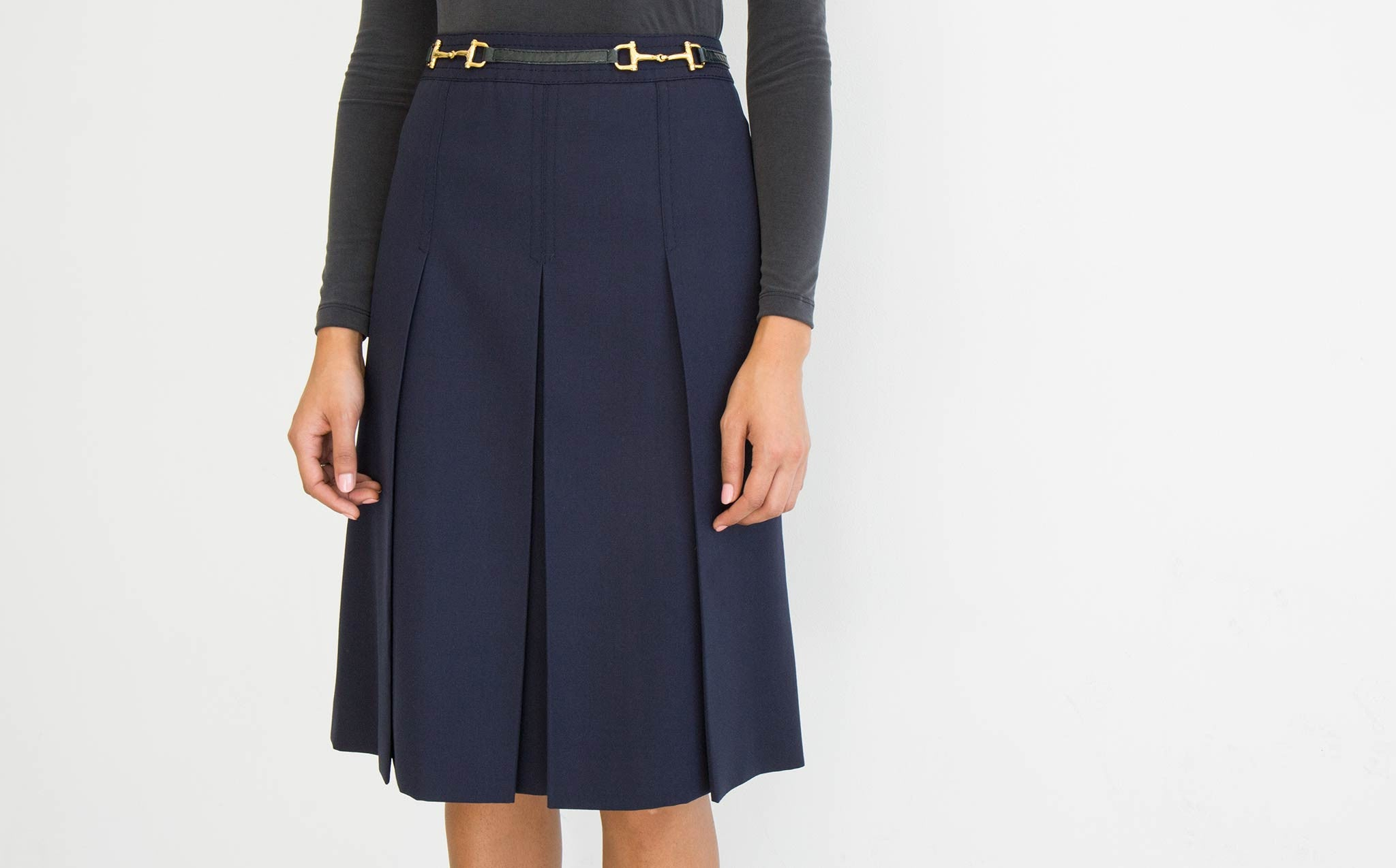 Celine Pleat Front Skirt
