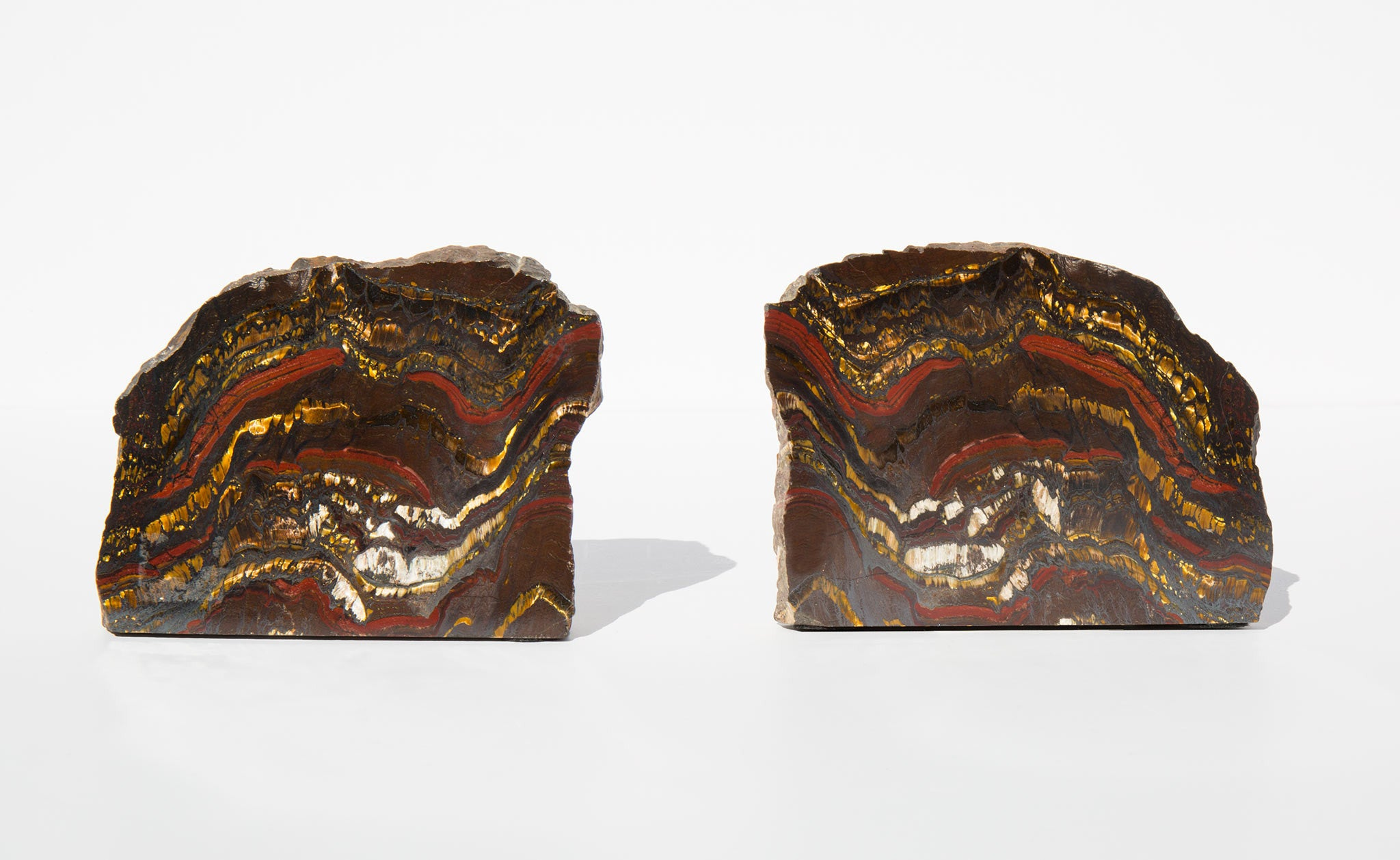 Brazilian Tiger Iron Bookends