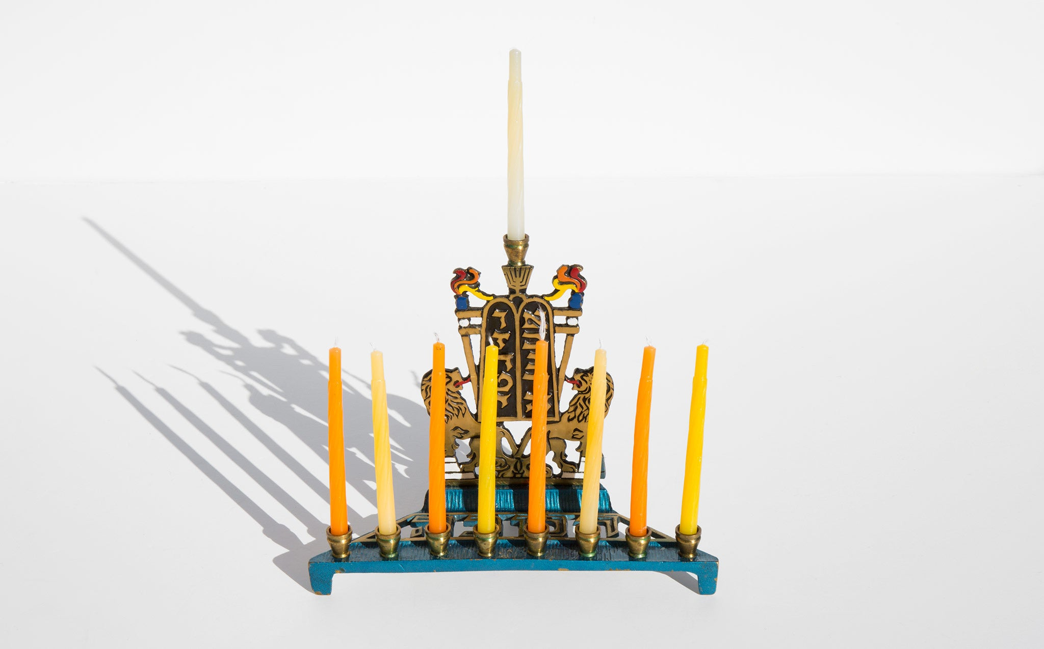 1960's Enamel Lion Menorah