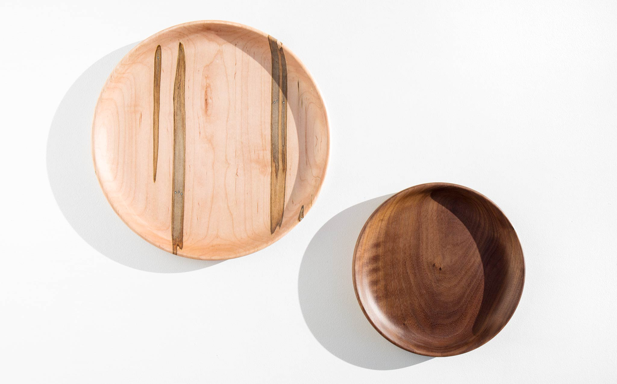 Mod Tribe Design Ambrosia Maple and Walnut Plate Set