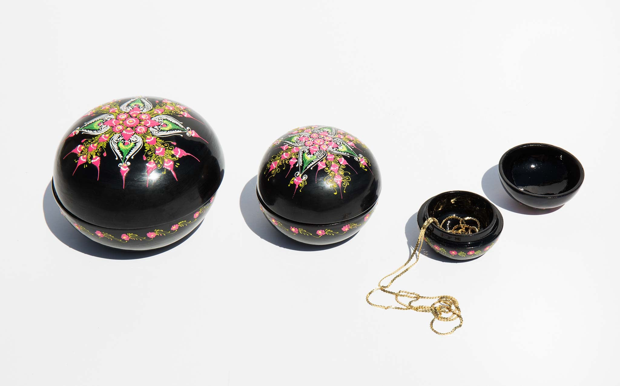 Enameled Nesting Treasure Boxes