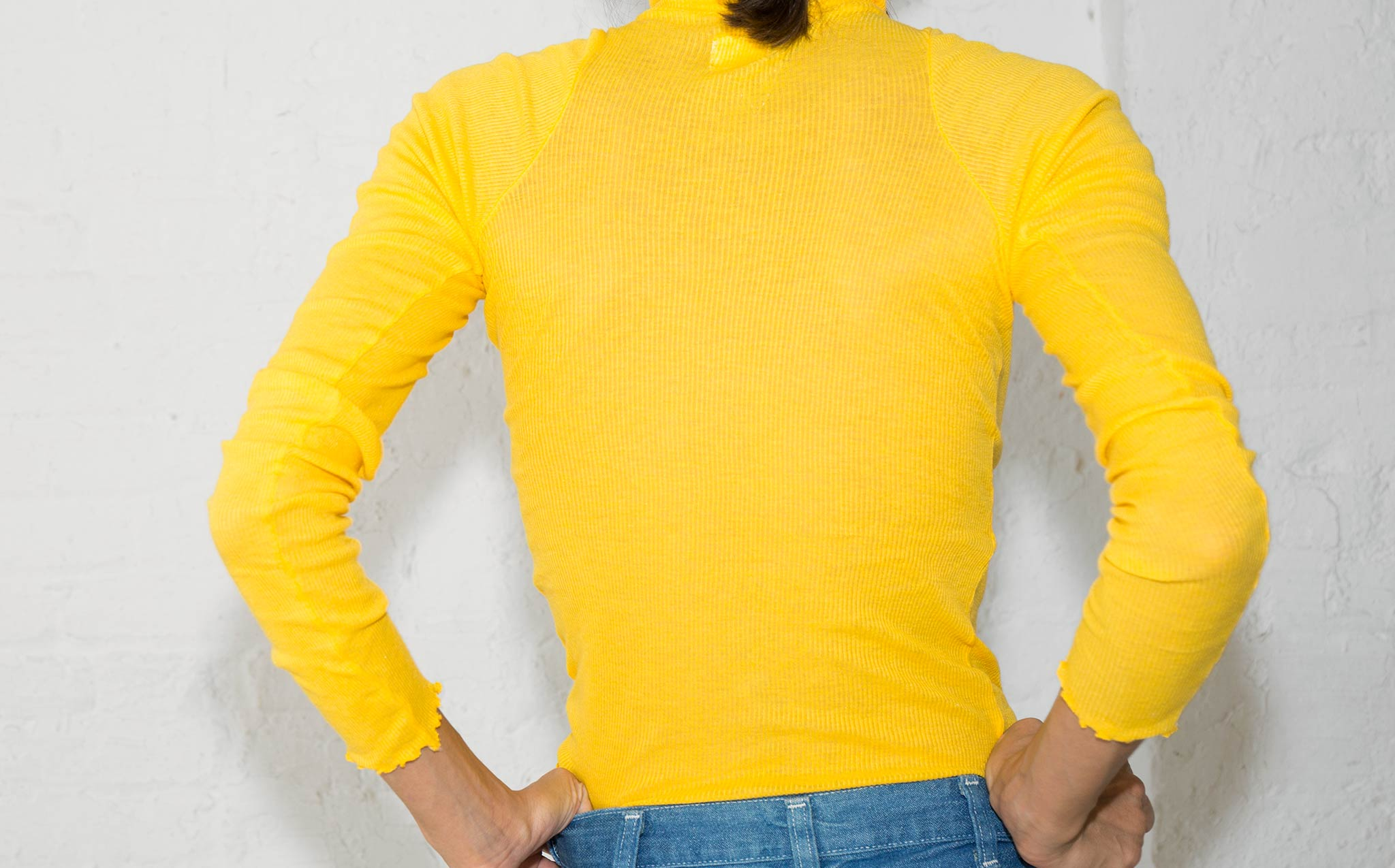 Vivien Ramsay Pop Yellow Turtleneck