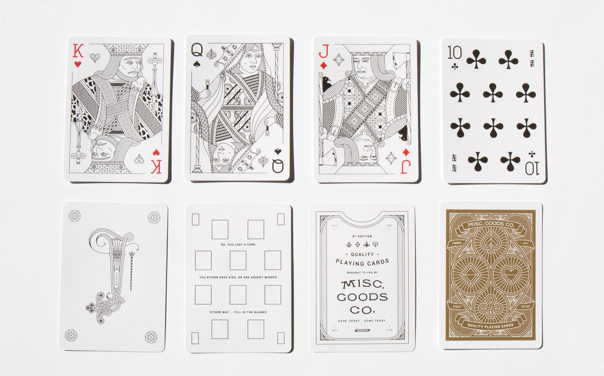 Misc Goods Co Playing Cards - Red - Front 2