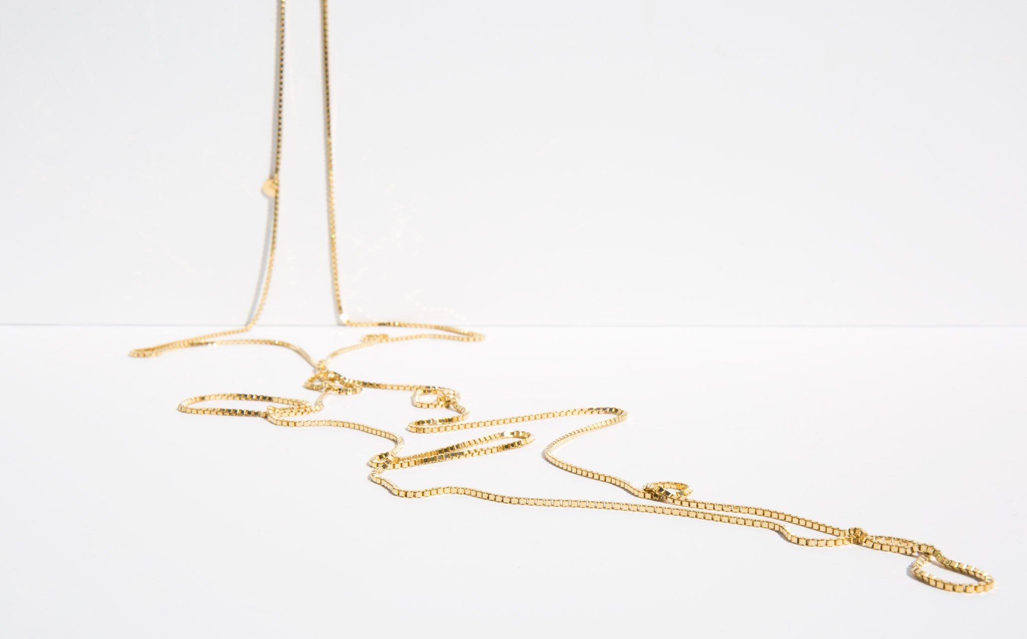 Saskia Diez Very Long Gold Loop Necklace