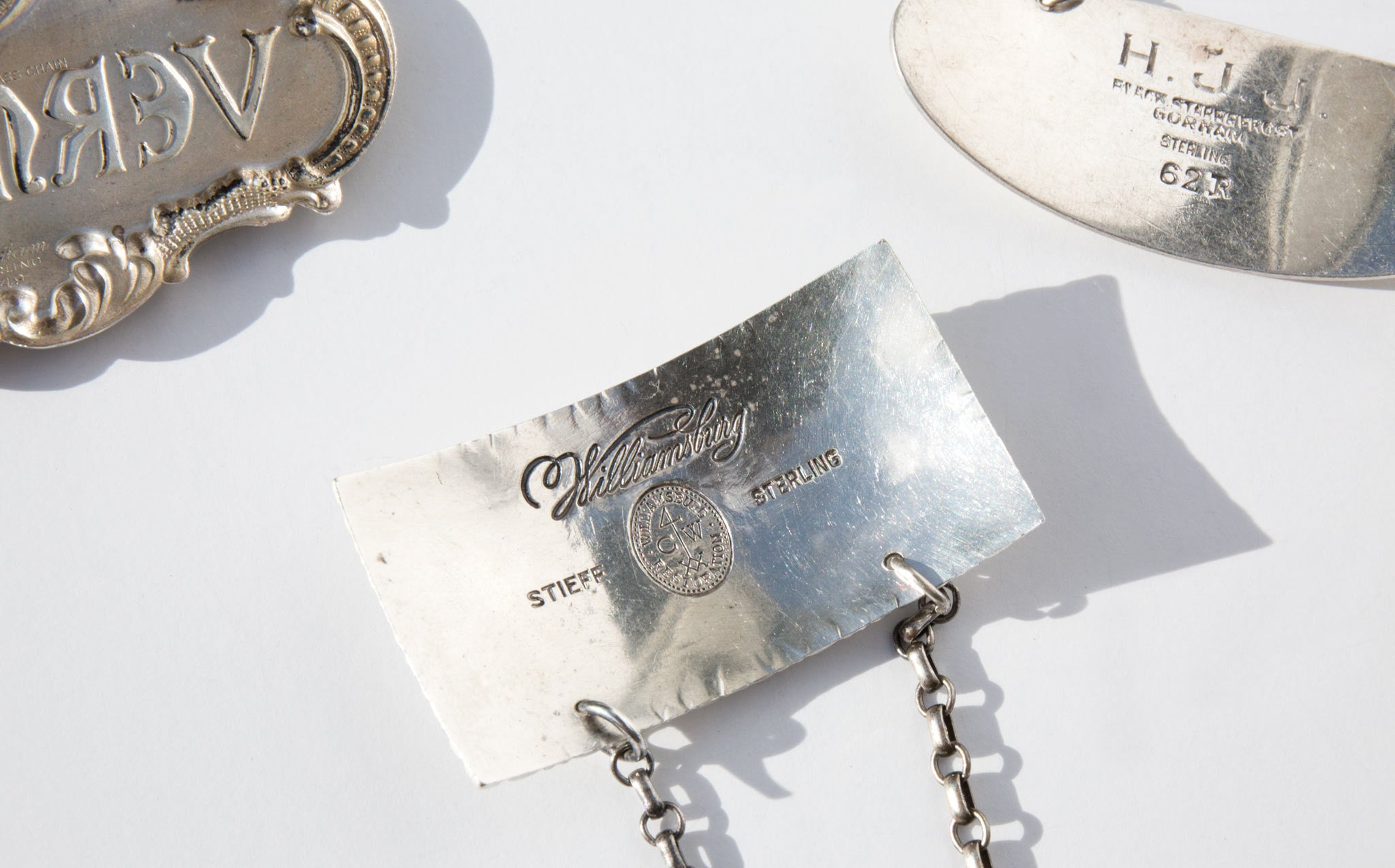 Sterling Silver Decanter Labels