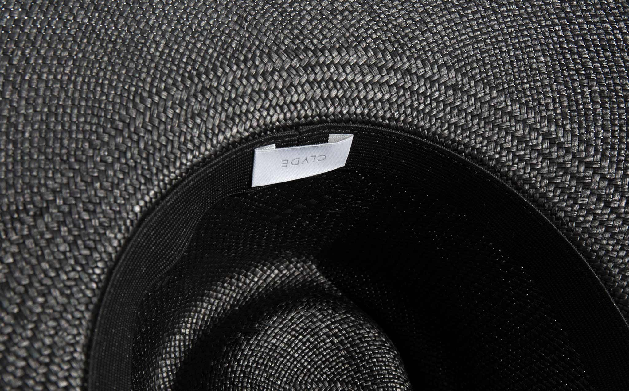 Clyde Black Wide Brim Pinch Panama Hat kindred black