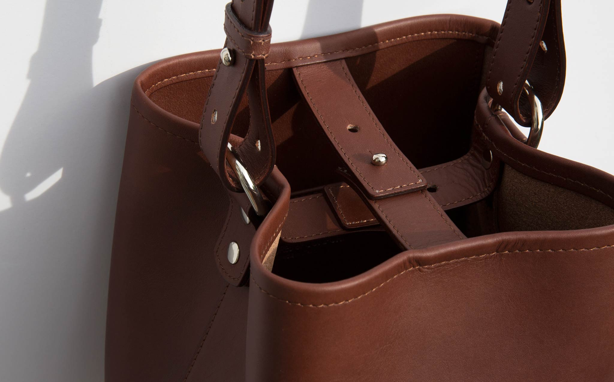 Creatures Of Comfort Dark Brown Saddle Small Bucket Bag