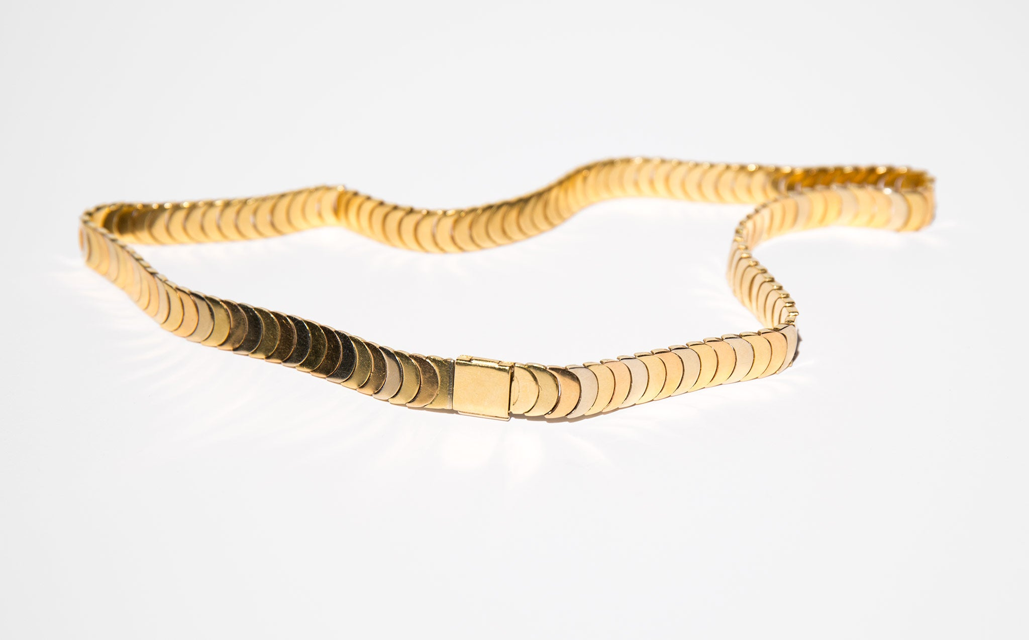 18k Gold Tri-Color Scales Choker