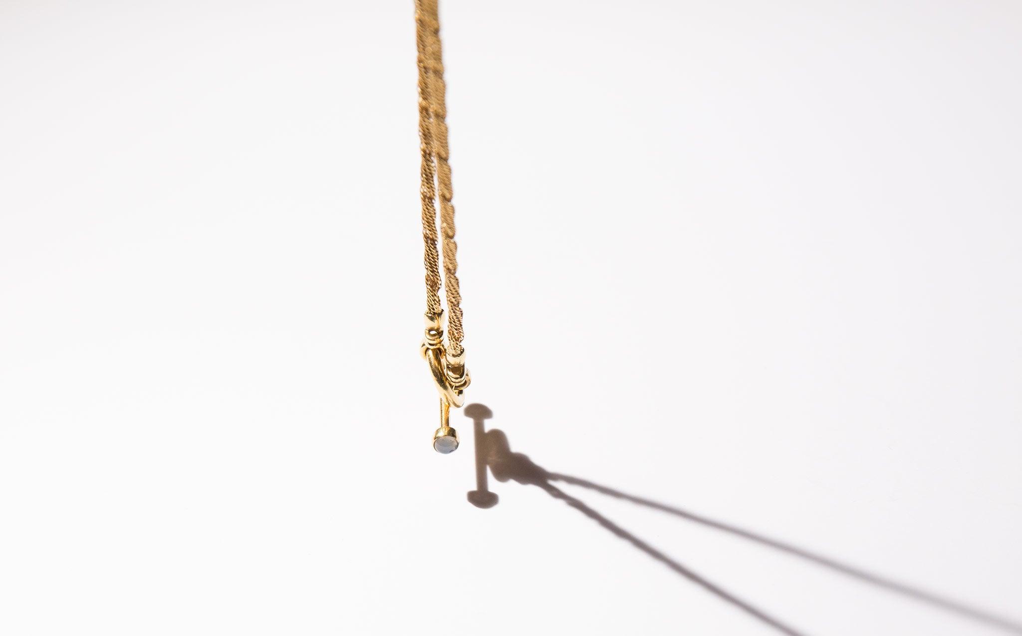 18k Gold and Moonstone Lariat