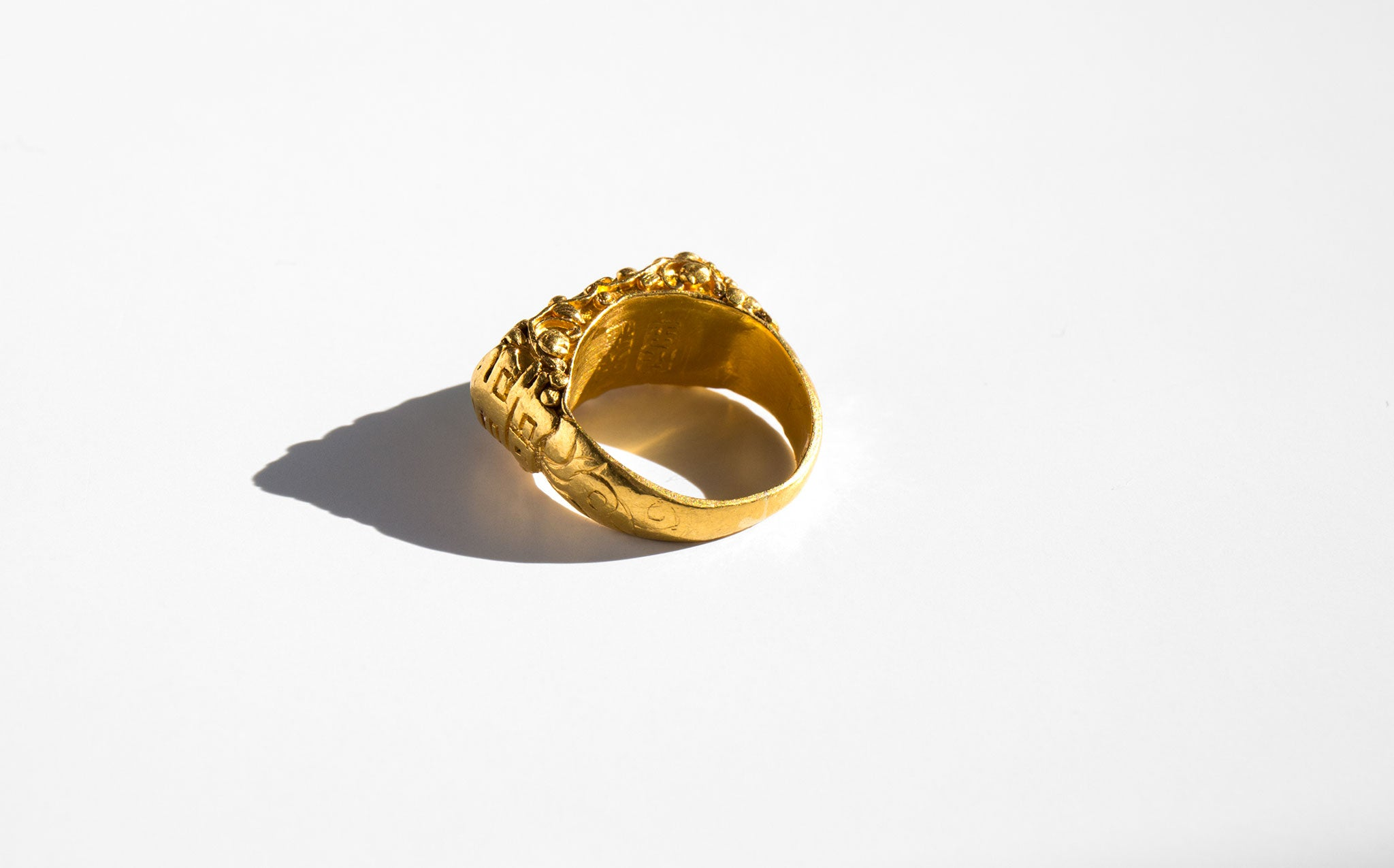 22k Gold and Jade Utopia Ring