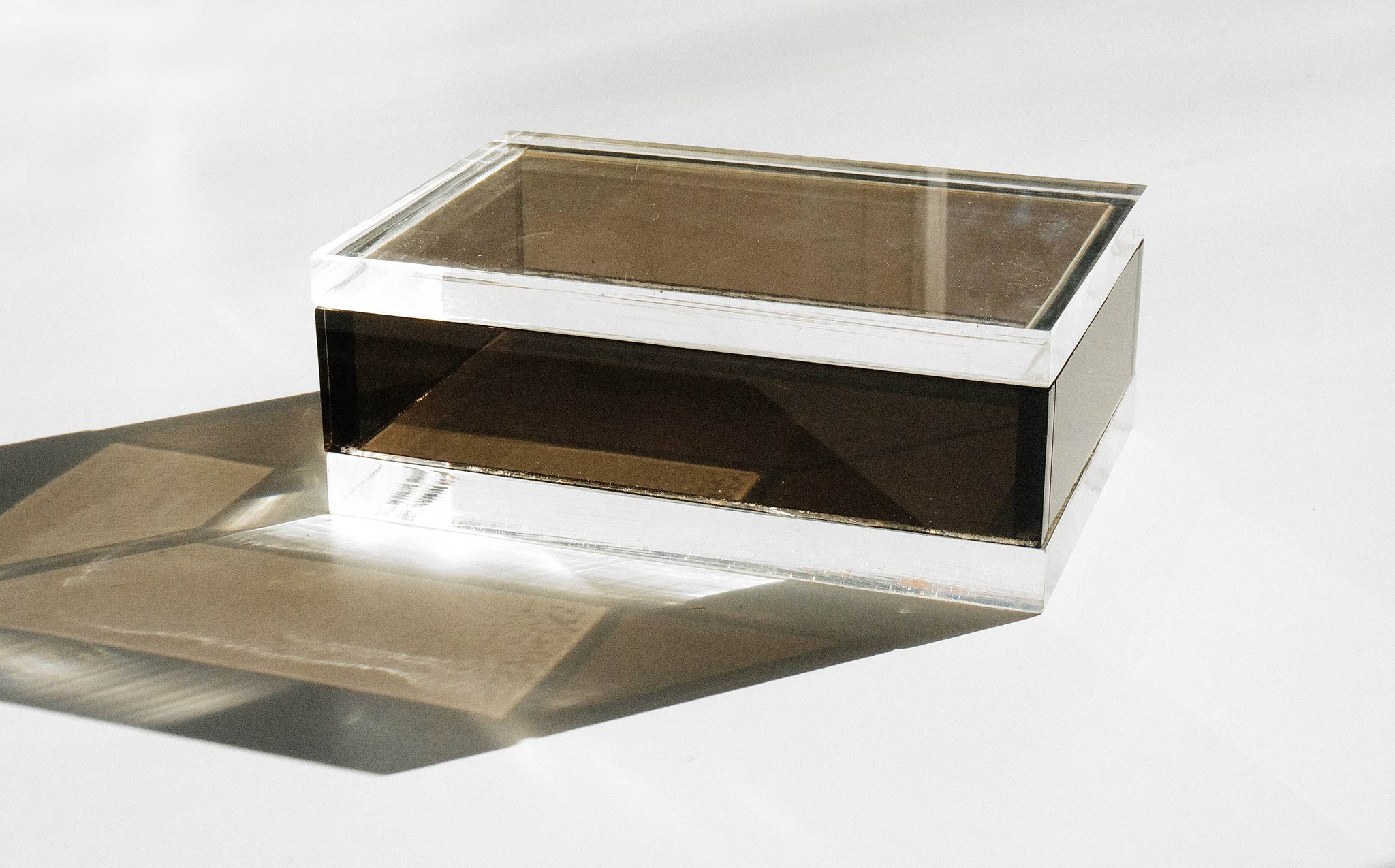 Two Tone Lucite Box