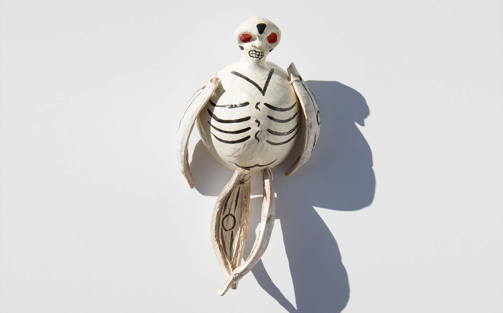 Vintage Mexican Coconut Skeleton