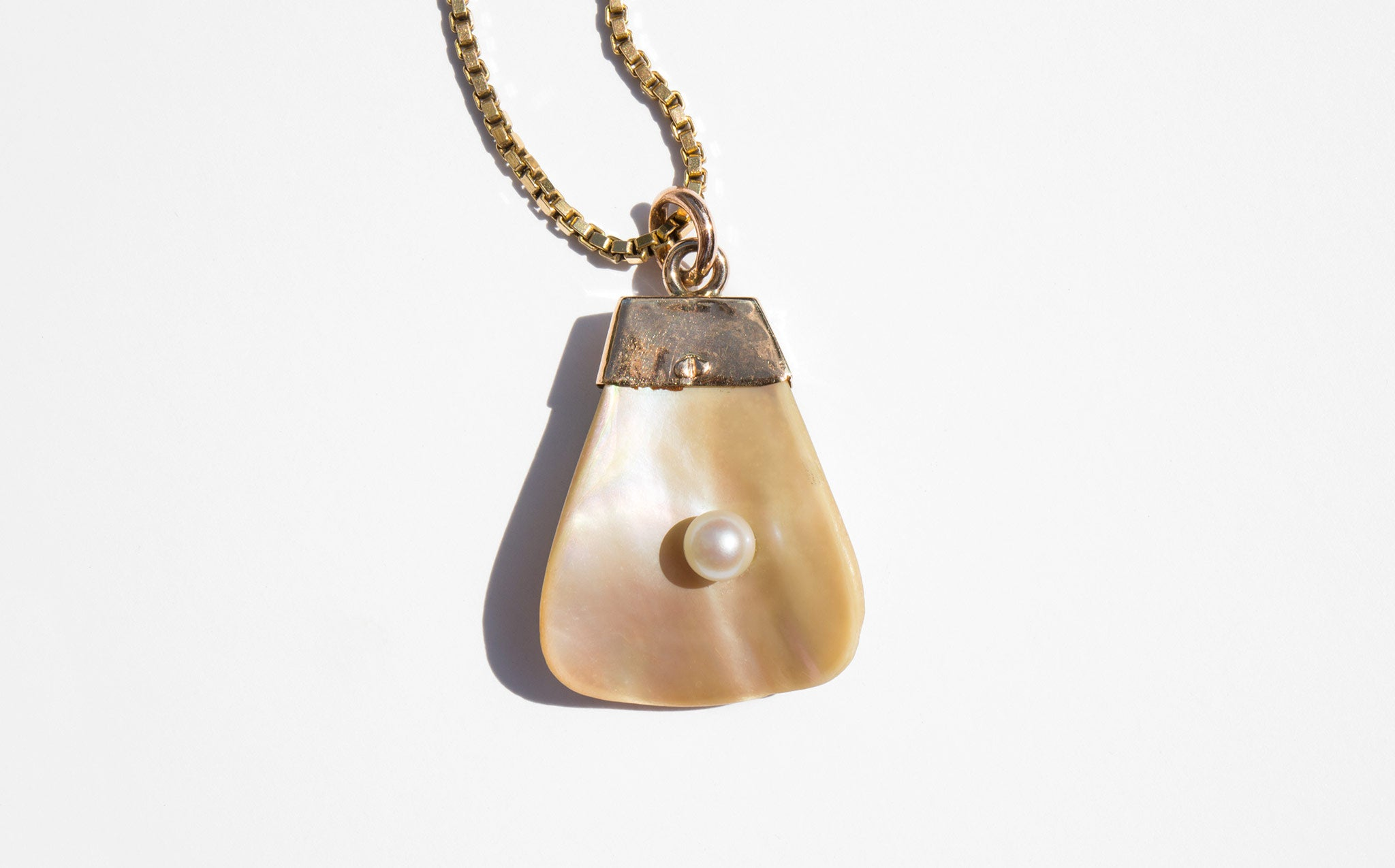 Mother of Pearl with Inset Pearl Necklace