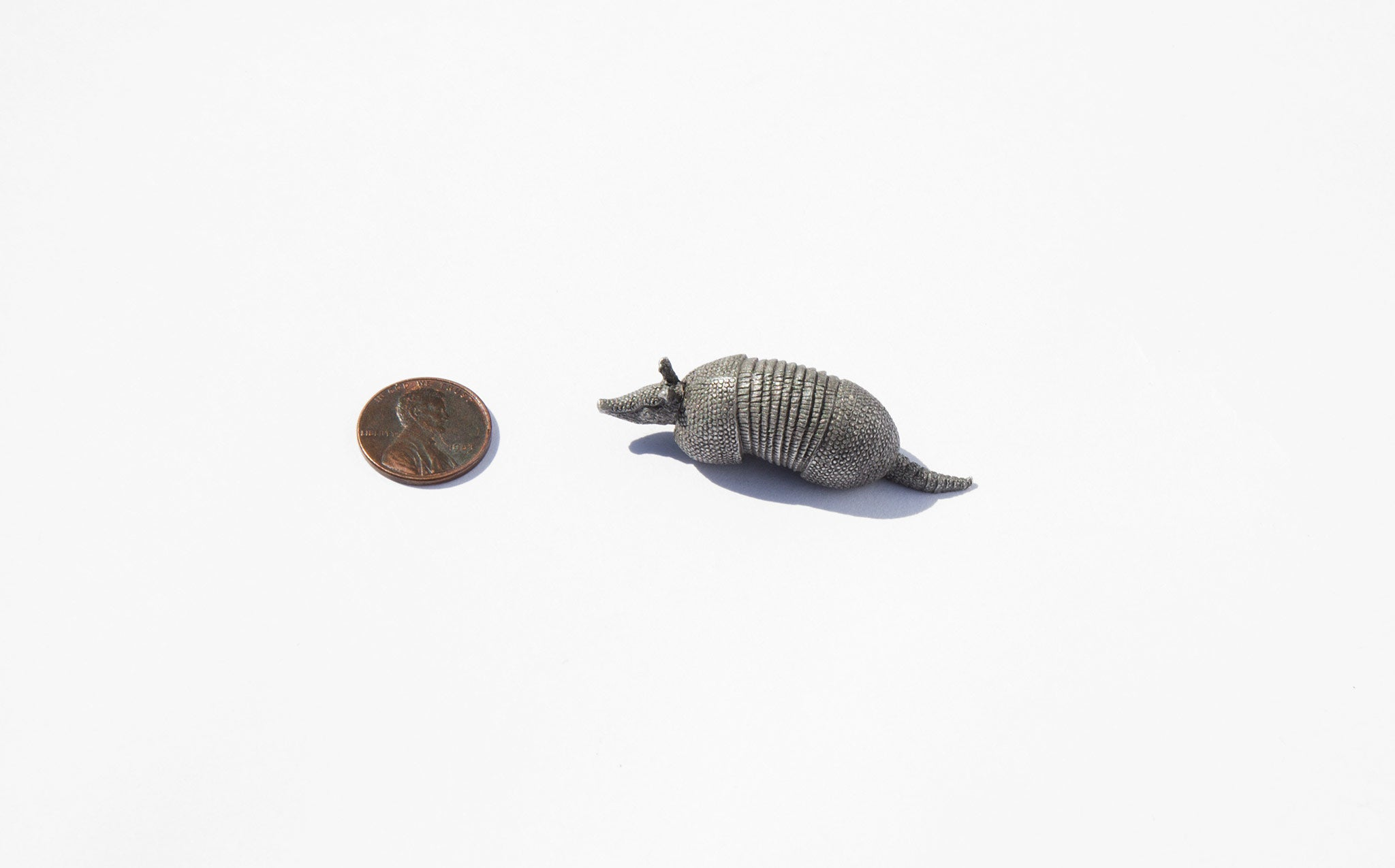 Tiny Pewter Armadillo