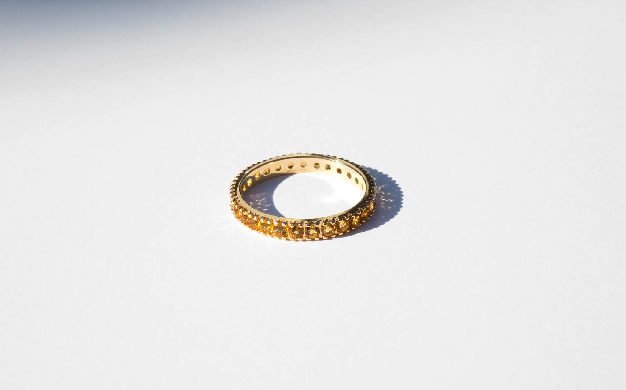 Topaz and 14K Eternity Band