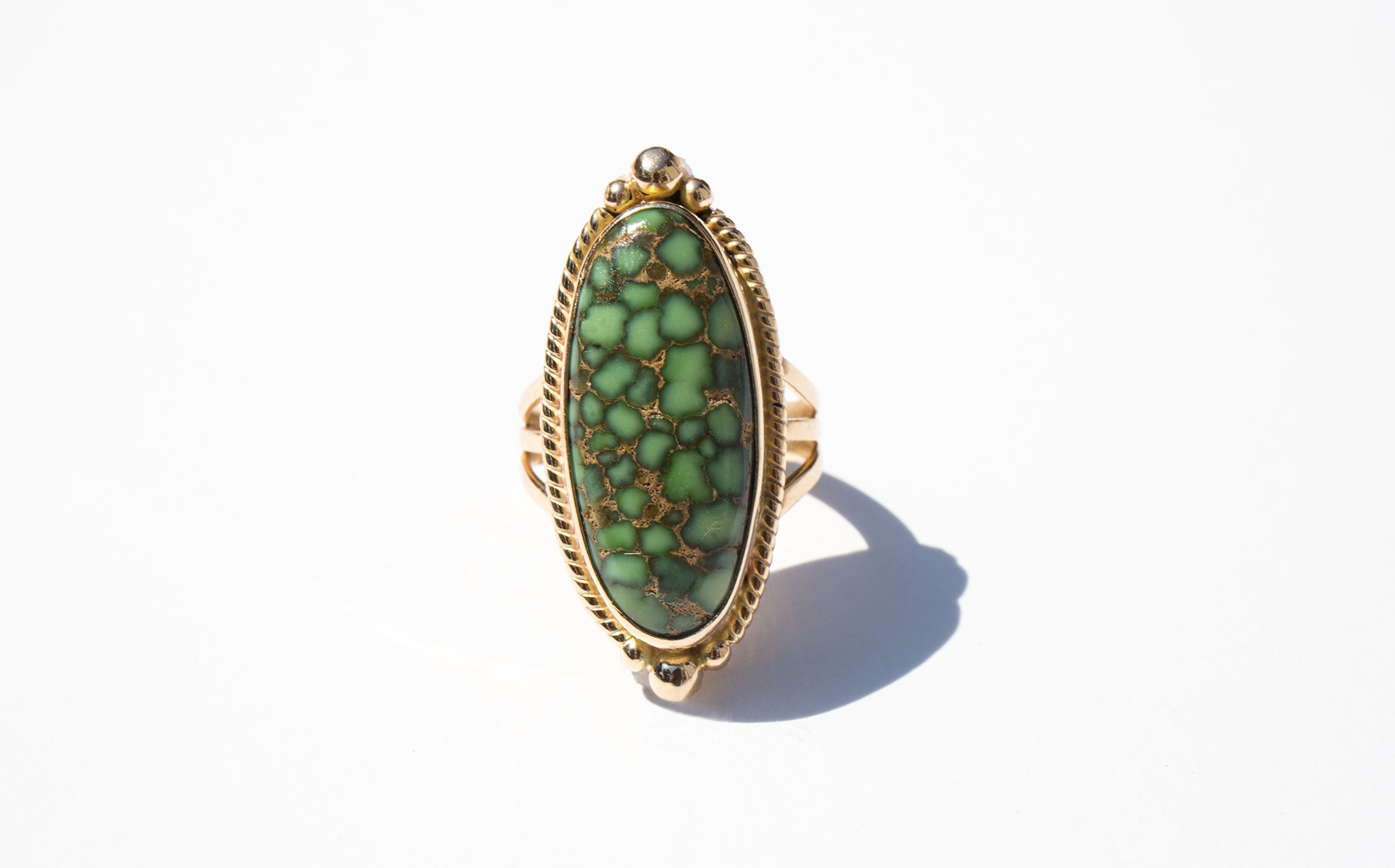 Turquoise and 14K Ring