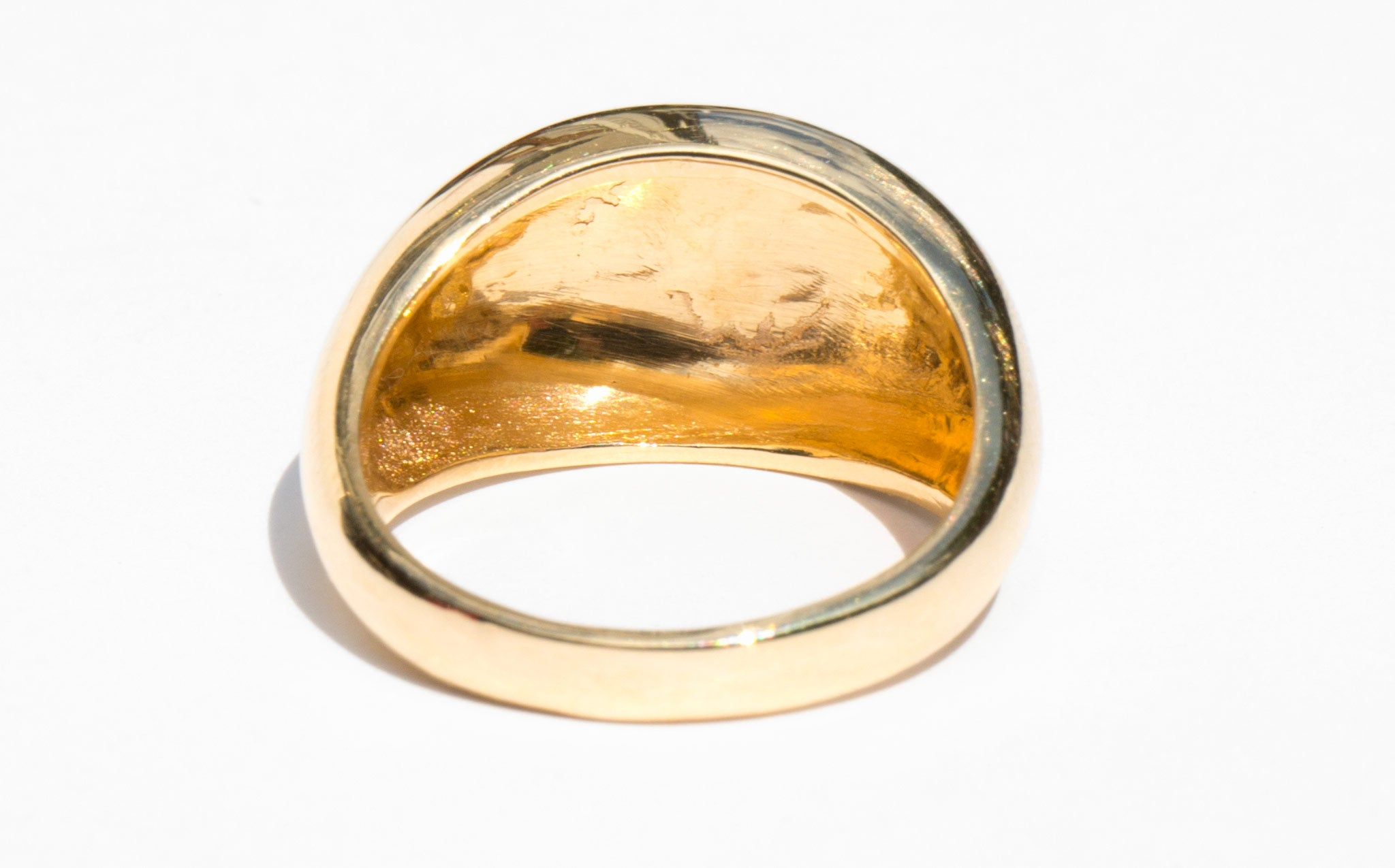 Vaulted Gold Ring