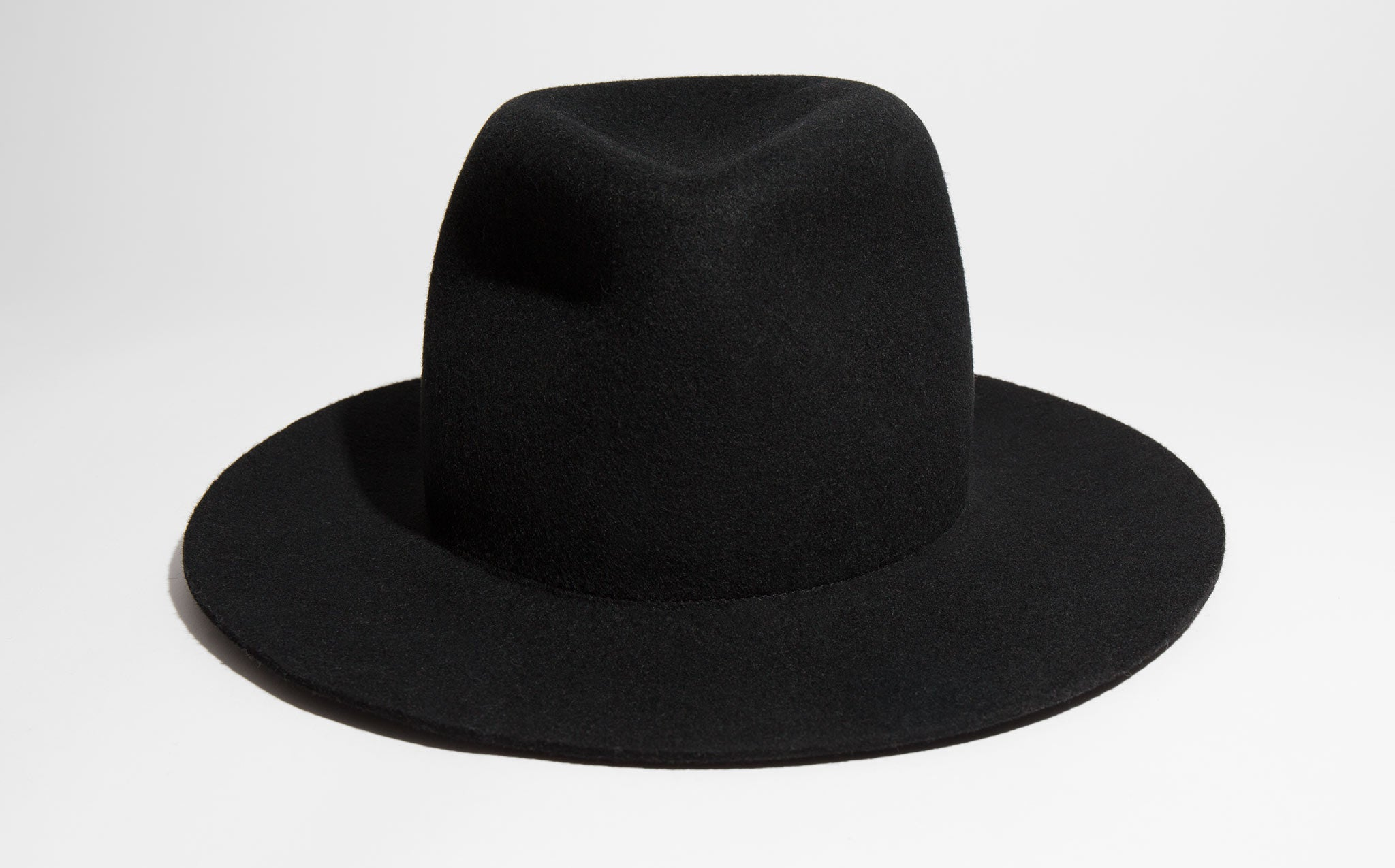 Clyde Black Wool Pinch Hat kindred black