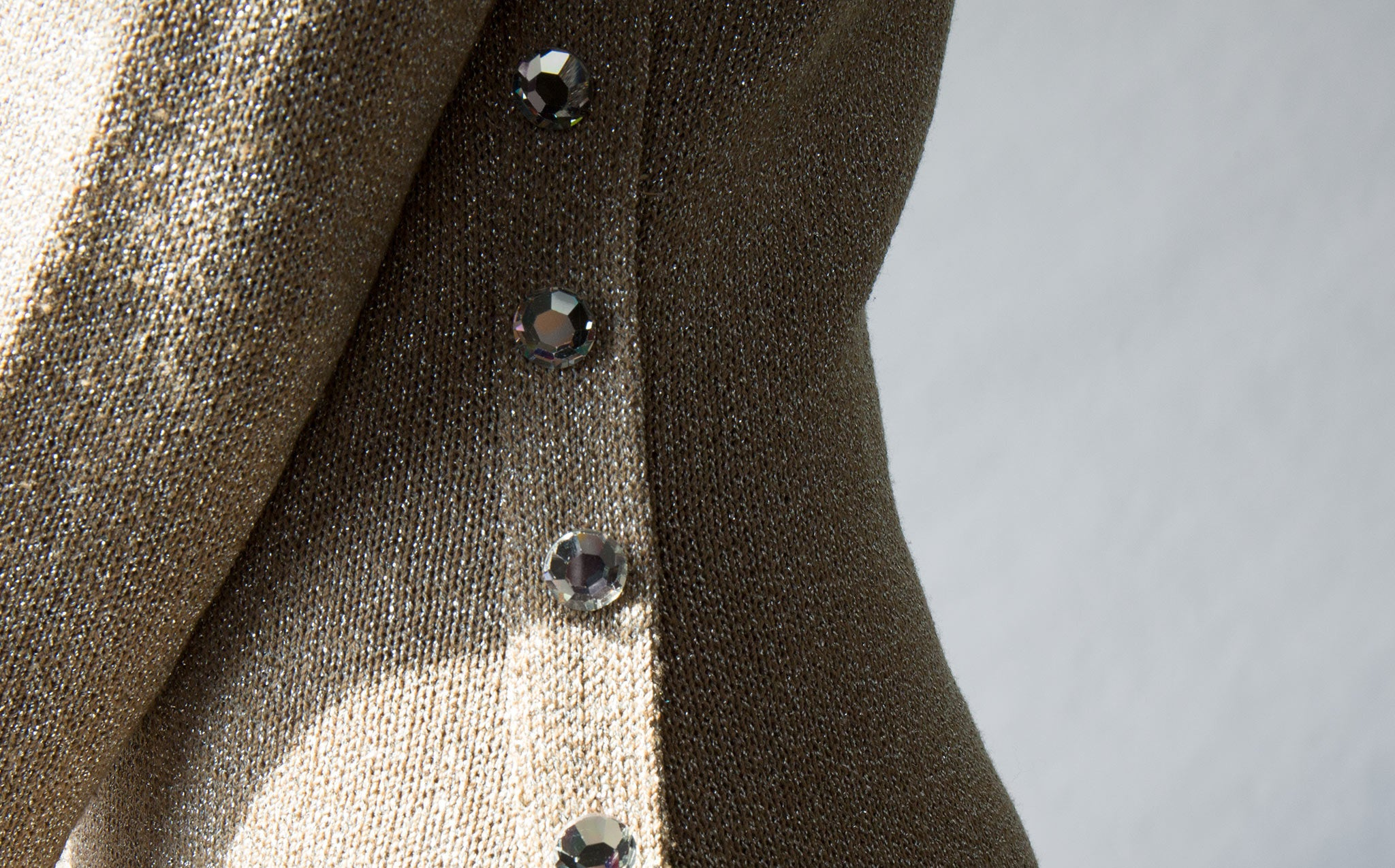 Holiday Dress with Glass Buttons