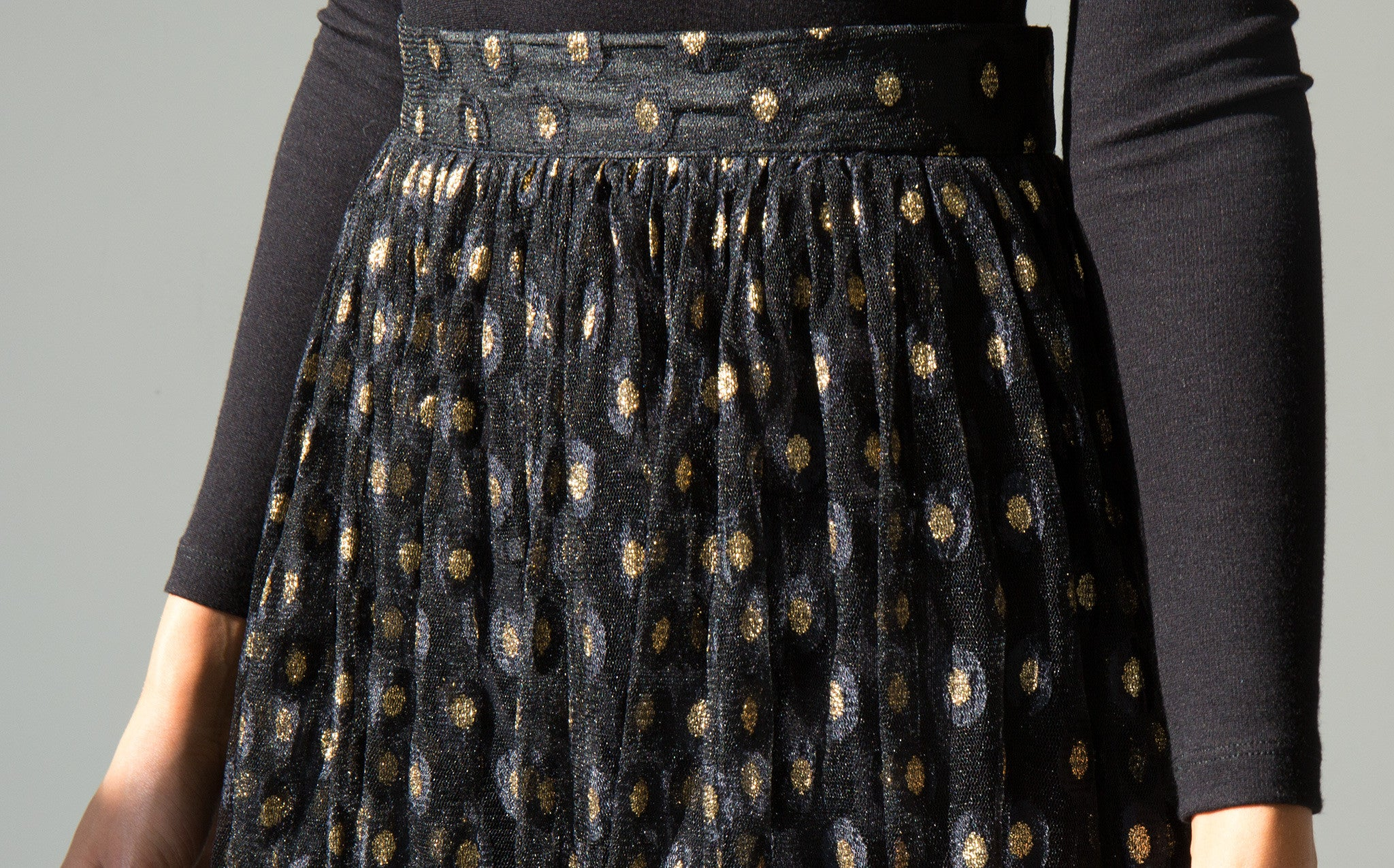 Tulle Evening Skirt kindred black