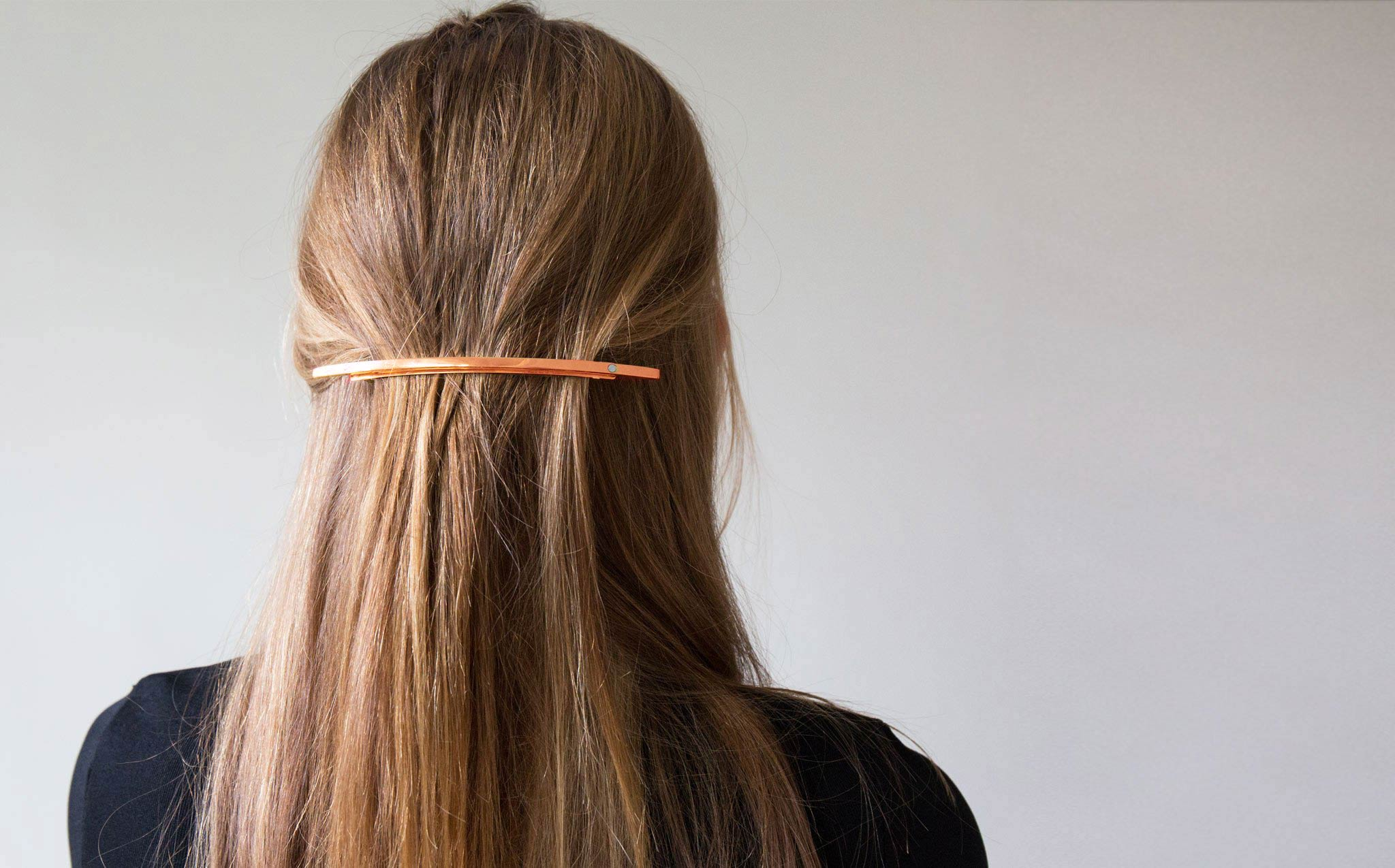 Sylvain Le Hen Rose Gold Hair Barrette 023