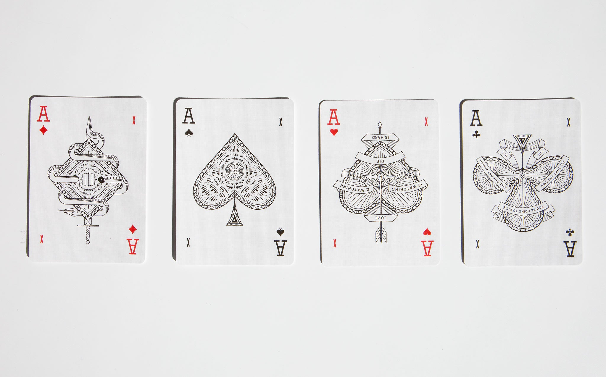 Misc Goods Co Playing Cards - Red - Front