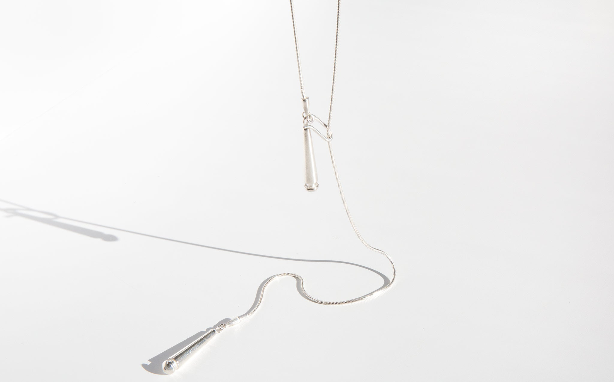 Another Feather Drop Lariat Necklace