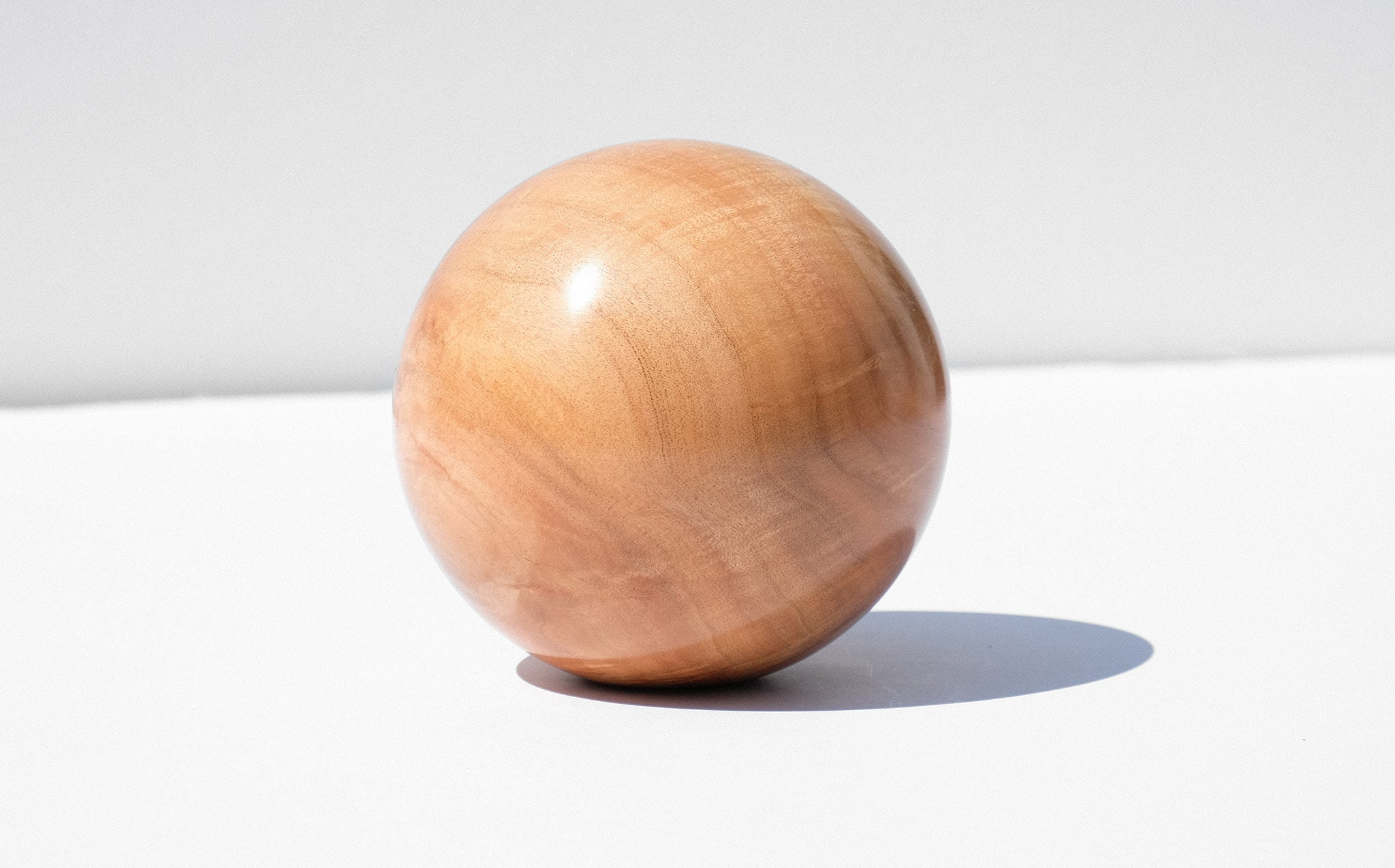 Bruce Perlmutter Hand Lathed Silver Maple Orb