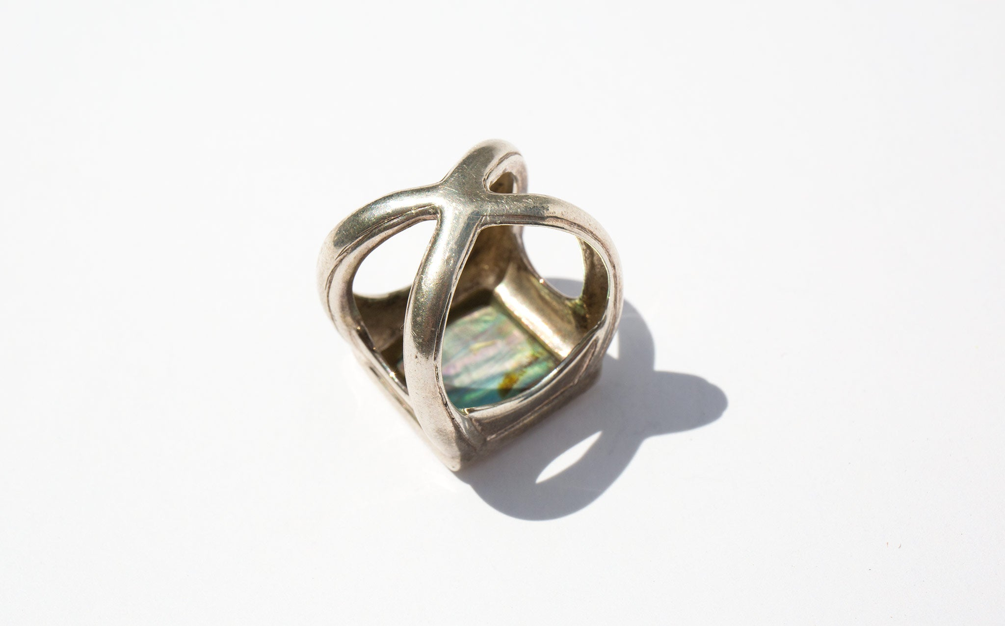 Sculptural Abalone Ring