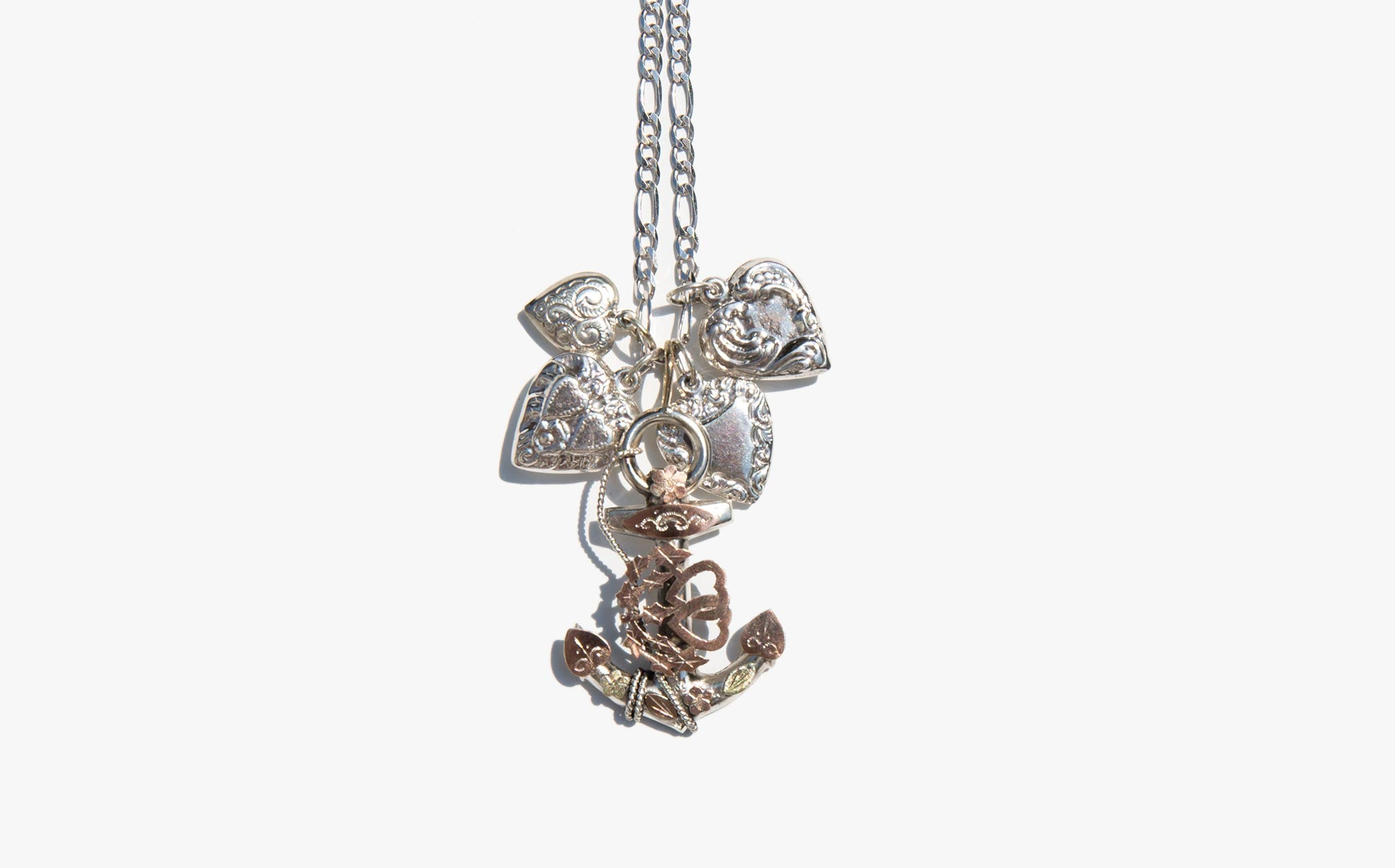 Antique Sweetheart Charm Necklace