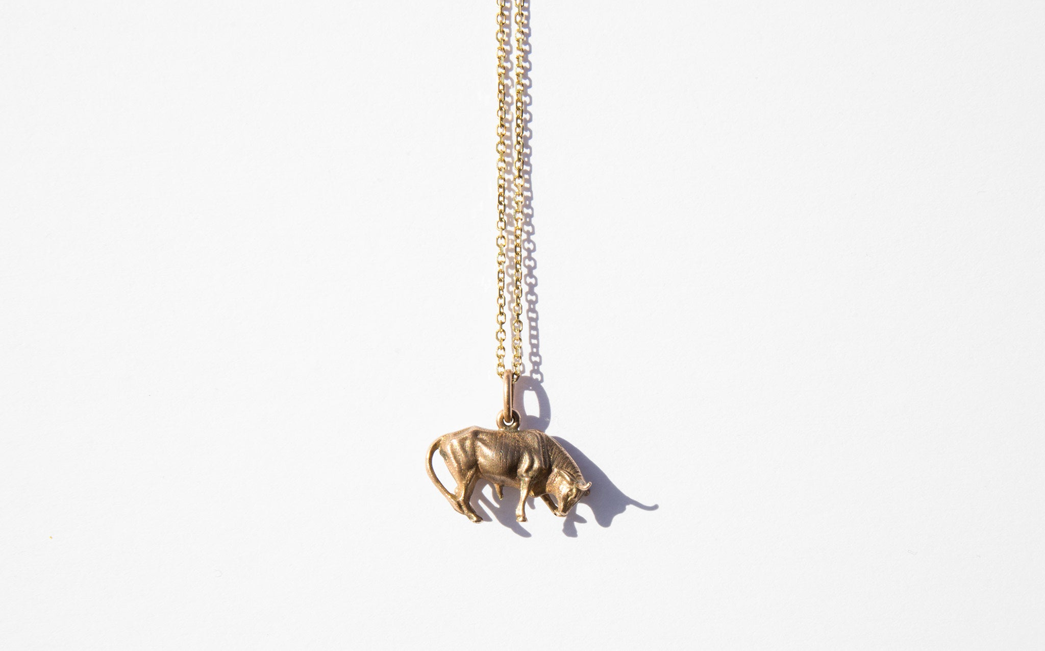 Bull Charm Necklace